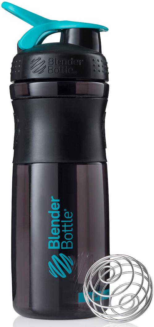 Шейкер спортивный BlenderBottle SportMixer, цвет: черный, бирюзовый, 828 млBB-SM28-BCYAСтиль, инновации и универсальность в равной мере. BlenderBottle SportMixer принял вызов вашей активной, деловой и спортивной жизни. Новое понимание, что значит быть современной бутылкой для воды.Идеален для:- Воды- Смешивания любых напитков- Электролитов- Энергетических напитков- Заменителей пищи- Пищевых добавок- Протеиновые смеси- Смузи и шейки- Смеси с клетчаткой и многое другое.Прочный. Не впитывает запахи. Безопасный.SportMixer остается прочным и прозрачным в течение всего срока эксплуатации. Он изготовлен из безопасного пластика с закрытыми порами, Eastman Tritan, который не содержит бисфенолы (BPA, BPS и другие) и фталаты. Материал не выделяет вредных веществ и не впитывает запахи, а значит вы сможете в полной мере насладиться вкусом вашего напитка не переживая за свое здоровье и здоровье ваших близких!Закройте, подвесьте на сумке и носите с собой.Удобное кольцо на крышке позволяет легко крепить SportMixer к сумке или рюкзаку и взять его собой в тренажерный зал или в офис. Кольцо SportLoop разработано таким образом, что при любом весе бутылки и нагрузке крышка останется закрытой.Не выскользнет из рук.Ребра на крышке и объемное изображение на резиновом SportGrip обеспечивает крепкое сцепление даже со влажной ладонью, трясете ли вы питательный или протеиновый коктейль, или держите его в руке во время утренней пробежки.Смешивай!Что-то больше, чем просто вода? Запатентованный шарик-венчик BlenderBall смешивает энергетические напитки и электролиты, протеиновые коктейли и многое другое, легко! Шарик BlenderBall разворачивается внутри бутылки, смешивая ваши напитки до однородной консистенции, каждый раз, сотни раз. Изготовлен из 316-хирургической нержавеющей стали, что позволяет не вынимать BlenderBall из бутылки с вашим напитком: он не ржавеет и не подтвержден коррозии.Как повысить эффективность тренировок с помощью спортивного питания? Статья OZON Гид