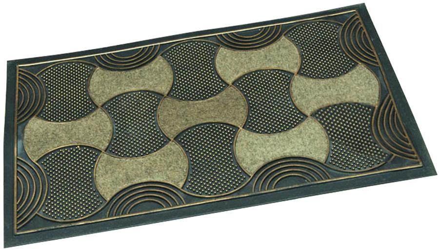 Коврик придверный Paterra Роскошный, цвет: коричневый, 40 х 70 см408-037Придверный коврик Paterra Роскошный препятствуетпроникновению грязи впомещение. Коврик выполнен из ПВХ, благодаря чему оннадежно фиксируетсяна полу. Верхняя часть коврика так же содержит фрагменты изполипропилена, которые обеспечивают хорошее очищениевашей обуви.Благодаря оптимальной толщине, коврик будет радовать васдолгое время.