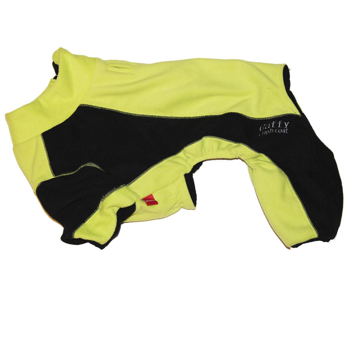 Комбинезон для собак Gaffy Pet, унисекс, цвет: салатовый, черный. Размер S11027 SФлисовый комбинезон Gaffy Pet защитит вашего питомца от холода в любую погоду. Выполнен из очень теплого флиса, поэтому теперь прогулка возможна при любой температуре. На животе есть специальные резинки для лучшей посадки. Комбинезон легко надевается и застегивается на молнию на спине. Молния также закрыта планкой из флиса.Комбинезон незаменим при активных прогулках и походах. Яркая расцветка подойдет всем собакам.Обхват шеи: 32 см.Обхват груди: 50 см.Длина спины: 32 см.Одежда для собак: нужна ли она и как её выбрать. Статья OZON Гид