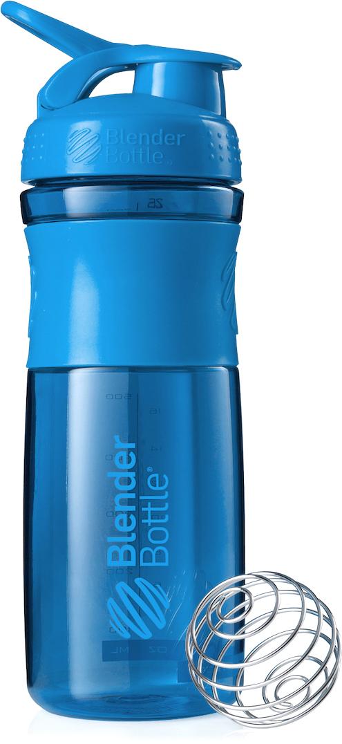 Шейкер спортивный BlenderBottle SportMixer, цвет: голубой, 828 млBB-SM28-TEALСтиль, инновации и универсальность в равной мере. BlenderBottle SportMixer принял вызов Вашей активной, деловой и спортивной жизни. Новое понимание, что значит быть современной бутылкой для воды.Идеален для:- Воды- Смешивания любых напитков- Электролитов- Энергетических напитков- Заменителей пищи- Пищевых добавок- Протеиновые смеси- Смузи и шейки- Смеси с клетчаткой и многое другое.Прочный. Не впитывает запахи. Безопасный.SportMixer остается прочным и прозрачным в течение всего срока эксплуатации. Он изготовлен из безопасного пластика с закрытыми порами, Eastman Tritan, который не содержит бисфенолы (BPA, BPS и другие) и фталаты. Материал не выделяет вредных веществ и не впитывает запахи, а значит вы сможете в полной мере насладиться вкусом вашего напитка не переживая за свое здоровье и здоровье ваших близких!Закройте, подвесьте на сумке и носите с собой.Удобное кольцо на крышке позволяет легко крепить SportMixer к сумке или рюкзаку и взять его собой в тренажерный зал или в офис. Кольцо SportLoop разработано таким образом, что при любом весе бутылки и нагрузке крышка останется закрытой.Не выскользнет из рук.Ребра на крышке и объемное изображение на резиновом SportGrip обеспечивает крепкое сцепление даже со влажной ладонью, трясете ли вы питательный или протеиновый коктейль, или держите его в руке во время утренней пробежки.Смешивай!Что-то больше, чем просто вода? Запатентованный шарик-венчик BlenderBall смешивает энергетические напитки и электролиты, протеиновые коктейли и многое другое, легко! Шарик BlenderBall разворачивается внутри бутылки, смешивая Ваши напитки до однородной консистенции, каждый раз, сотни раз. Изготовлен из 316-хирургической нержавеющей стали, что позволяет не вынимать BlenderBall из бутылки с Вашим напитком: он не ржавеет и не подтвержден коррозии.Как повысить эффективность тренировок с помощью спортивного питания? Статья OZON Гид