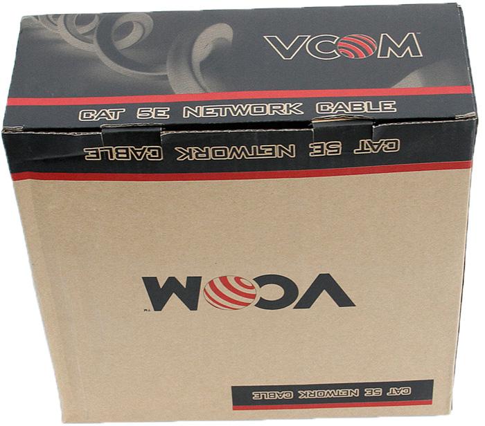 VCOM VNC1100 кабель CCA UTP 4 пары (305 м) vcom vnc1010 кабель ftp 4 пары 100 м