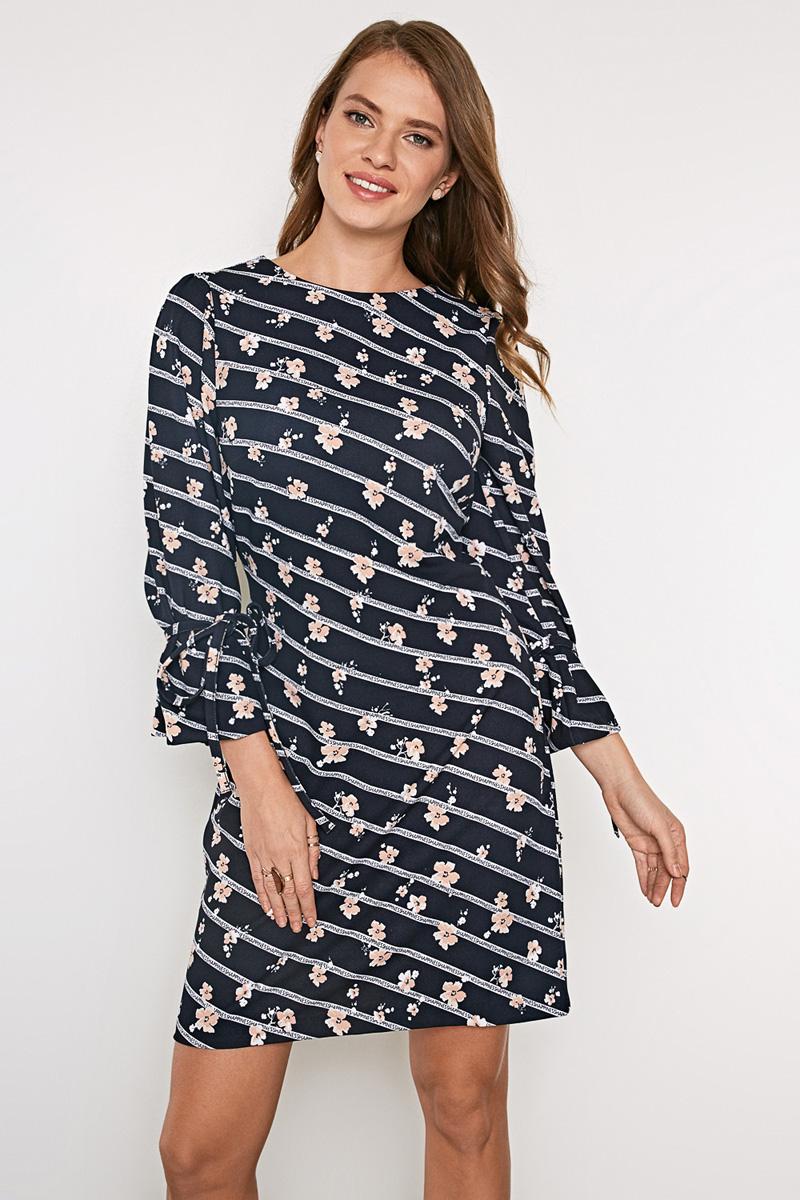 Платье Concept Club Clover, цвет: мультиколор. 10200200415_9000. Размер S (44)10200200415_9000Платье из плотной эластичной ткани. Модель с круглым вырезом горловины и оригинальными рукавами длиной 7/8. На спинке платье дополнено застежкой-молнией.