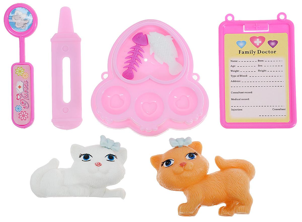 Bantik Club Игрушечный набор Кошечки на приеме у ветеринара
