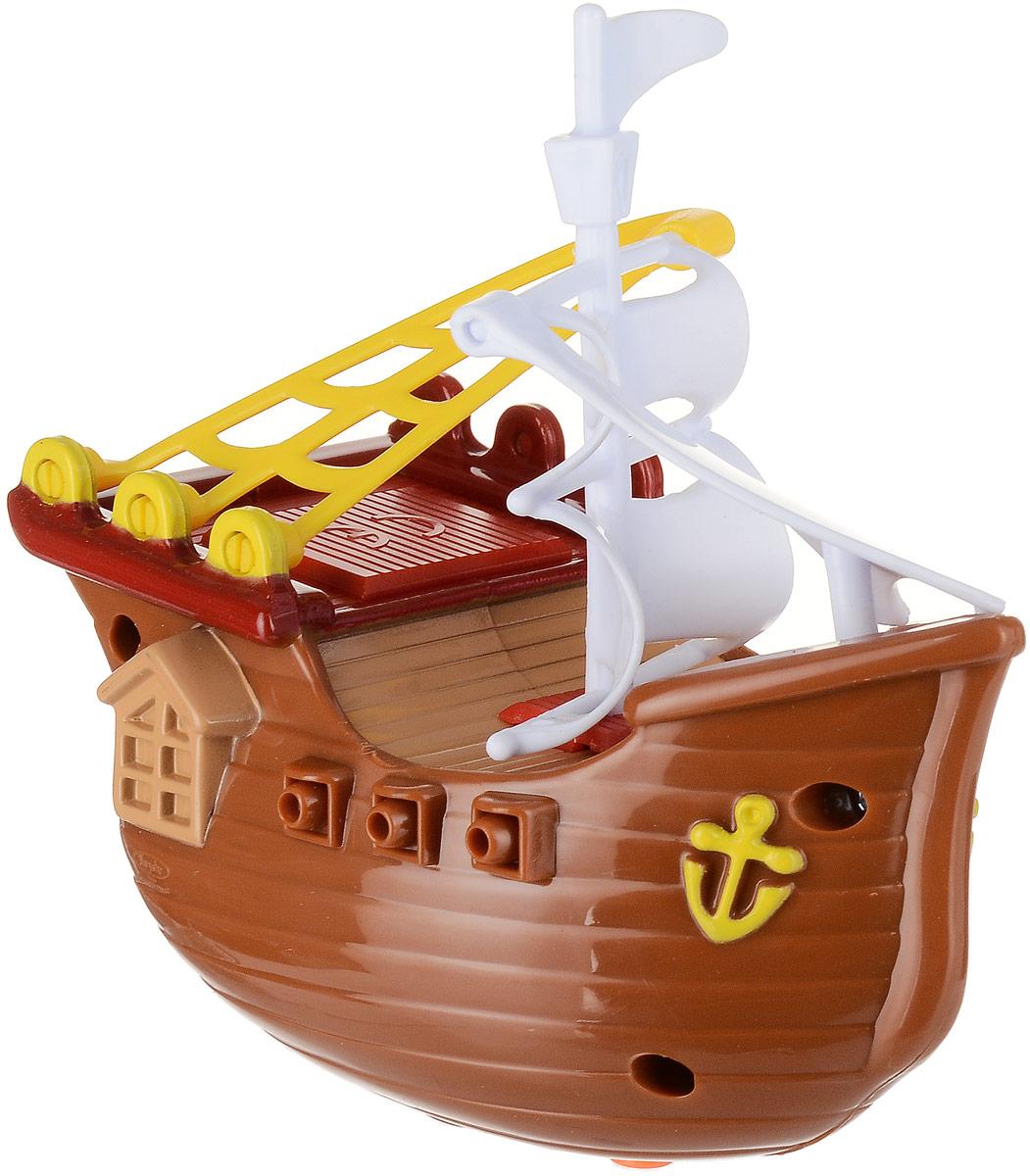 Bampi Заводная игрушка Вместе веселей Пиратский корабль цвет коричневый