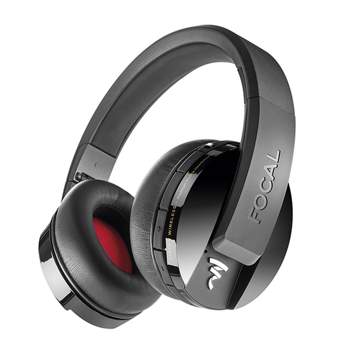 Focal Multimedia Listen Wireless, Black наушникиESPICAS111Беспроводные мониторные наушники с микрофоном, 32 Ом, 15Гц-22кГц, 122 дБ/мВт, Bluetooth 4.1 aptX, майларовый динамик 40 мм, 20ч автономной работы, вес 300 г.
