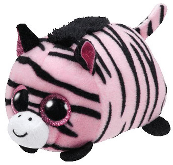 TY Мягкая игрушка Зебра Pennie цвет розовый 11 см