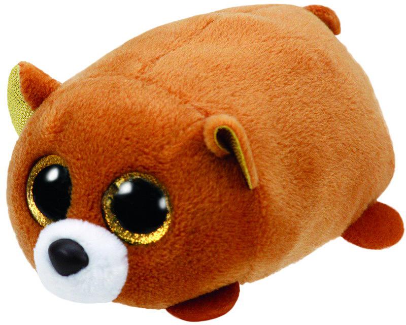 TY Мягкая игрушка Медведь цвет коричневый 10 см