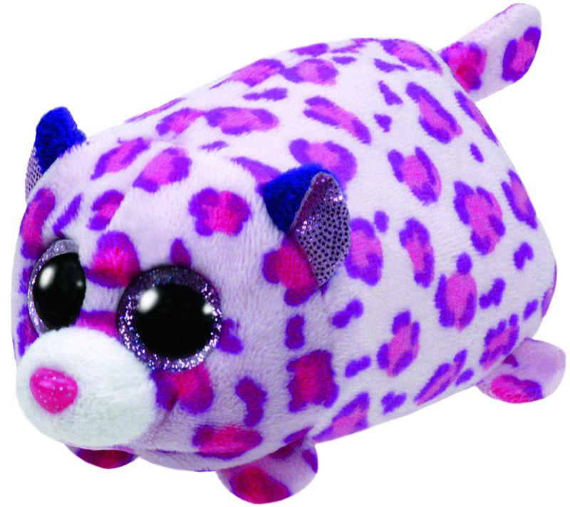 TY Мягкая игрушка Леопард цвет розовый 10 см