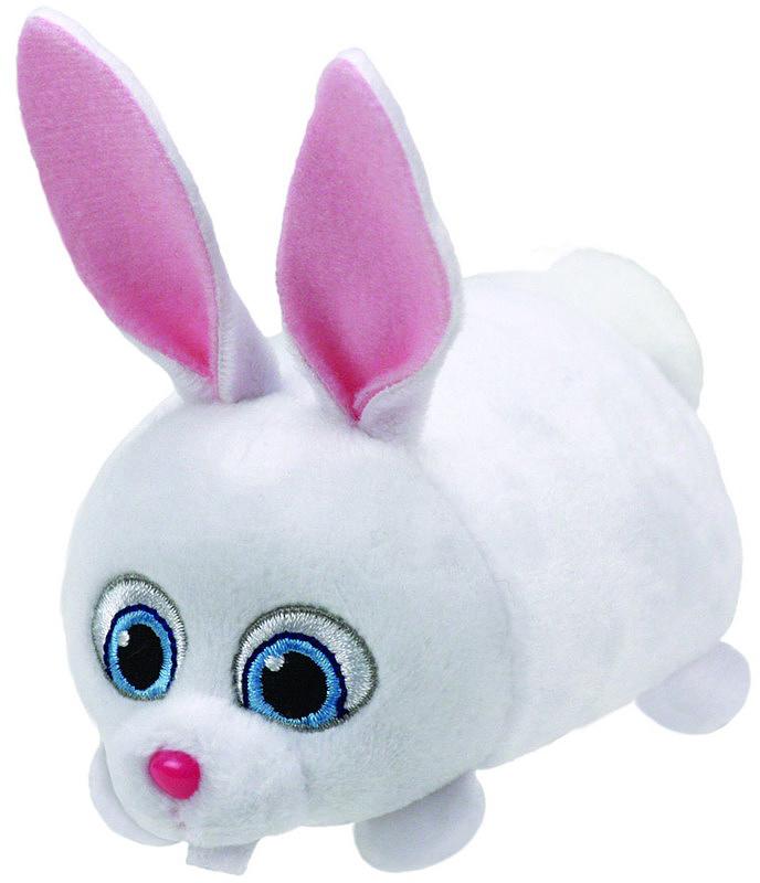 TY Мягкая игрушка Кролик Снежок 11 см