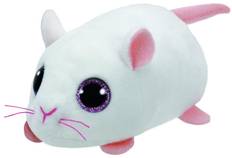 TY Мягкая игрушка Мышка Anna цвет белый 10 см