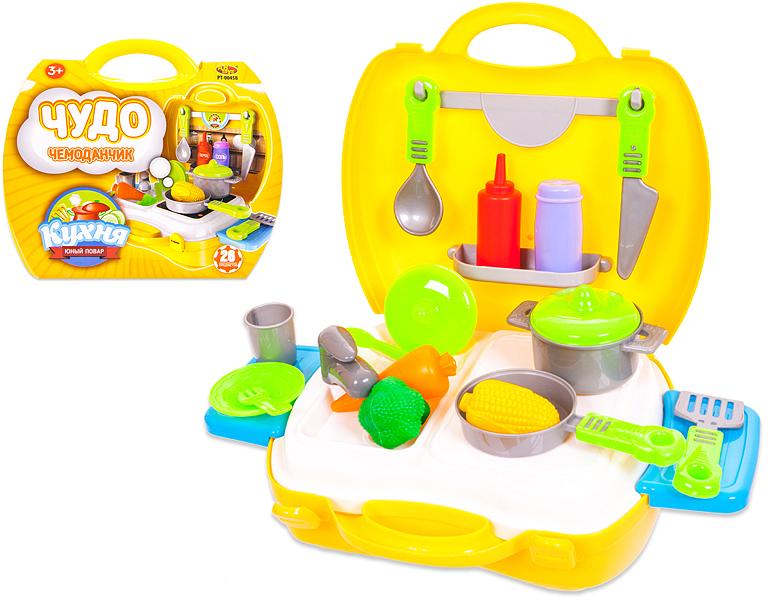 ABtoys Игровой набор Чудо-чемоданчик Кухня 21 предмет посуда кухонная