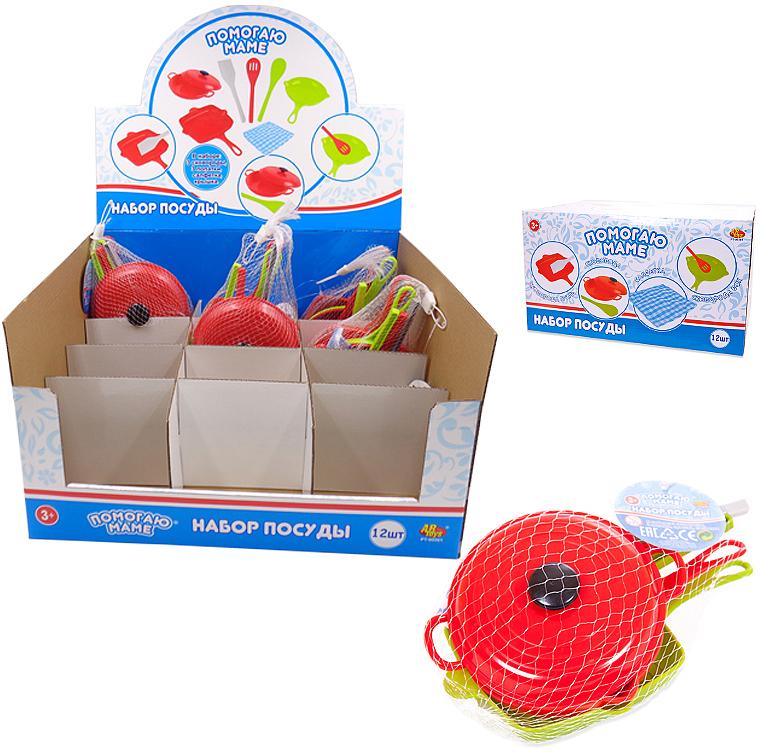 ABtoysИгровой набор посуды для кухни Помогаю Маме 8 предметов PT-00561(WK-B9747)