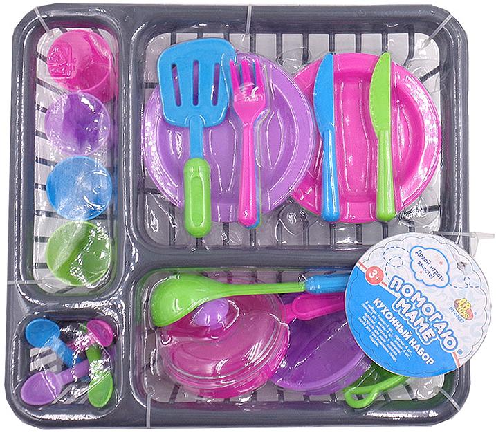 ABtoys Игровой набор посуды для кухни Помогаю Маме 27 предмета abtoys abtoys набор помогаю папе 4 предмета в чемодане