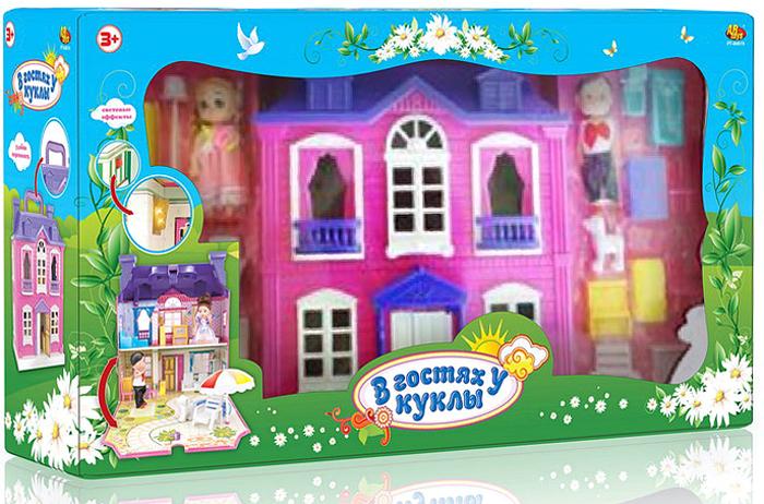 ABtoys Дом для кукол В гостях у куклы с аксессуарами со световыми эффектами abtoys 41 предмет