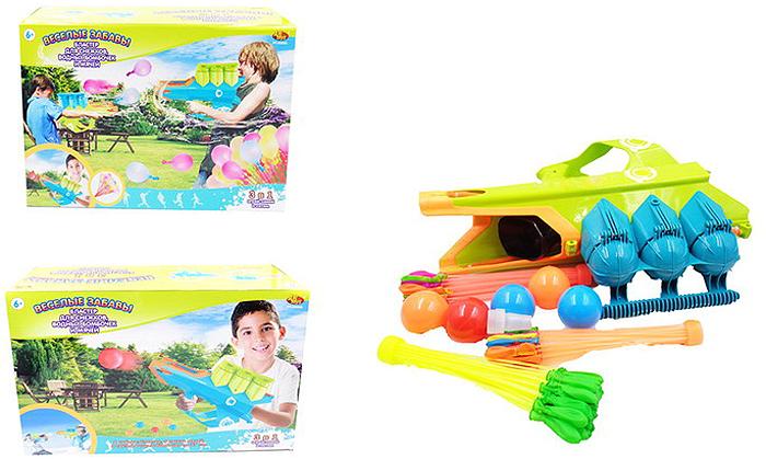 ABtoys Бластер для снежков водных бомбочек и мячей Веселые забавы 3 в 1 - Игры на открытом воздухе