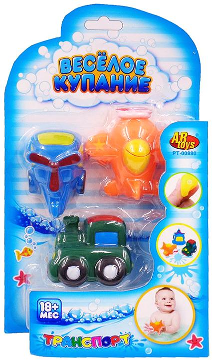 ABtoys Набор игрушек для ванной Веселое купание 3 шт PT-00880