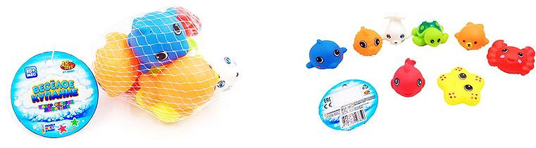 ABtoys Набор игрушек для ванной Веселое купание Морские обитатели 8 шт mommy love набор игрушек для ванной морские чудеса 6 шт