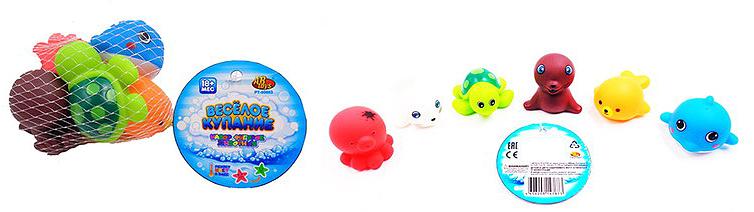 ABtoys Набор игрушек для ванной Веселое купание Морские обитатели 6 шт mommy love набор игрушек для ванной морские чудеса 6 шт