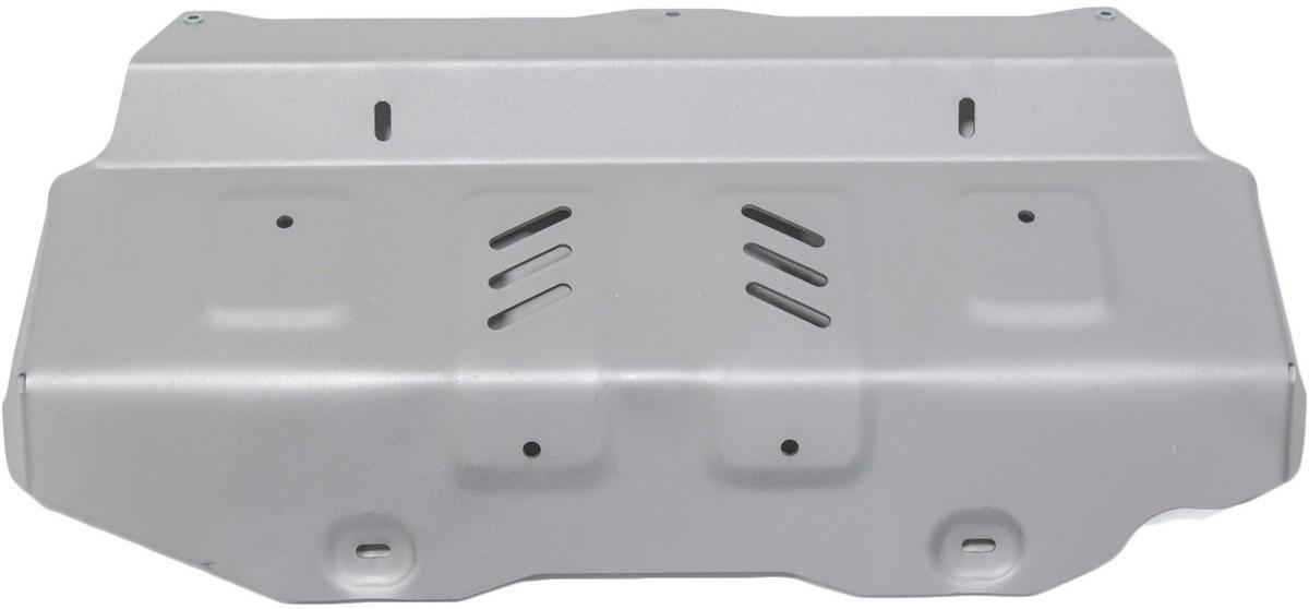 Защита радиатора и картера Rival для Toyota Hilux 2015-, алюминий 4 мм, штатный крепеж, часть 1, 3.9501.13.9501.1Защита радиатора и картера (часть 1) Rival для Toyota Hilux V - 2.4d; 2.8d 4WD 2015-н.в., алюминий 4 мм, штатный крепеж, 3.9501.1Алюминиевые защиты Rival надежно защищают днище вашего автомобиля от повреждений, например при наезде на бордюры, а также выполняют эстетическую функцию при установке на высокие автомобили.- Толщина алюминиевых защит в 2 раза толще стальных, а вес при этом меньше до 30%.- Отлично отводит тепло от двигателя своей поверхностью, что спасает двигатель от перегрева в летний период или при высоких нагрузках.- В отличие от стальных, алюминиевые защиты не поддаются коррозии, что гарантирует срок службы защит более 5 лет.- Покрываются порошковой краской, что надолго сохраняет первоначальный вид новой защиты и защищает от гальванической коррозии.- Глубокий штамп дополнительно усиливает конструкцию защиты.- Подштамповка в местах крепления защищает крепеж от срезания.- Технологические отверстия там, где они необходимы для смены масла и слива воды, оборудованные заглушками, надежно закрепленными на защите.- Помимо основной функции защиты от удара, конструкция так же существенно снижает попадание в моторный отсек влаги и грязи.В комплекте инструкция по установке.Уважаемые клиенты!Обращаем ваше внимание, на тот факт, что защита имеет форму, соответствующую модели данного автомобиля. Наличие глубокого штампа и лючков для смены фильтров/масла предусмотрено не на всех защитах. Фото служит для визуального восприятия товара.
