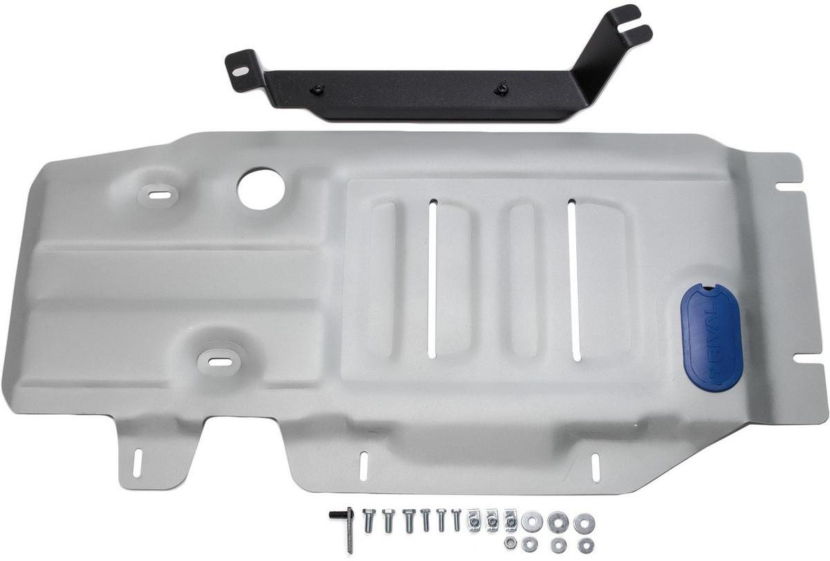 Защита КПП и РК Rival для BMW X4 2014- / BMW X3 2010-2014 2014-, алюминий 4 мм333.0507.2Защита КПП и РК Rival для BMW X3 V - 20i; 20d; 28i; 30d 2010-2014 2014-н.в./BMW X4 V - 28i; 30d 2014-н.в., алюминий 4 мм, крепеж в комплекте, 333.0507.2Алюминиевые защиты Rival надежно защищают днище вашего автомобиля от повреждений, например при наезде на бордюры, а также выполняют эстетическую функцию при установке на высокие автомобили.- Толщина алюминиевых защит в 2 раза толще стальных, а вес при этом меньше до 30%.- Отлично отводит тепло от двигателя своей поверхностью, что спасает двигатель от перегрева в летний период или при высоких нагрузках.- В отличие от стальных, алюминиевые защиты не поддаются коррозии, что гарантирует срок службы защит более 5 лет.- Покрываются порошковой краской, что надолго сохраняет первоначальный вид новой защиты и защищает от гальванической коррозии.- Глубокий штамп дополнительно усиливает конструкцию защиты.- Подштамповка в местах крепления защищает крепеж от срезания.- Технологические отверстия там, где они необходимы для смены масла и слива воды, оборудованные заглушками, надежно закрепленными на защите.- Помимо основной функции защиты от удара, конструкция так же существенно снижает попадание в моторный отсек влаги и грязи.В комплекте инструкция по установке.Уважаемые клиенты!Обращаем ваше внимание, на тот факт, что защита имеет форму, соответствующую модели данного автомобиля. Наличие глубокого штампа и лючков для смены фильтров/масла предусмотрено не на всех защитах. Фото служит для визуального восприятия товара.