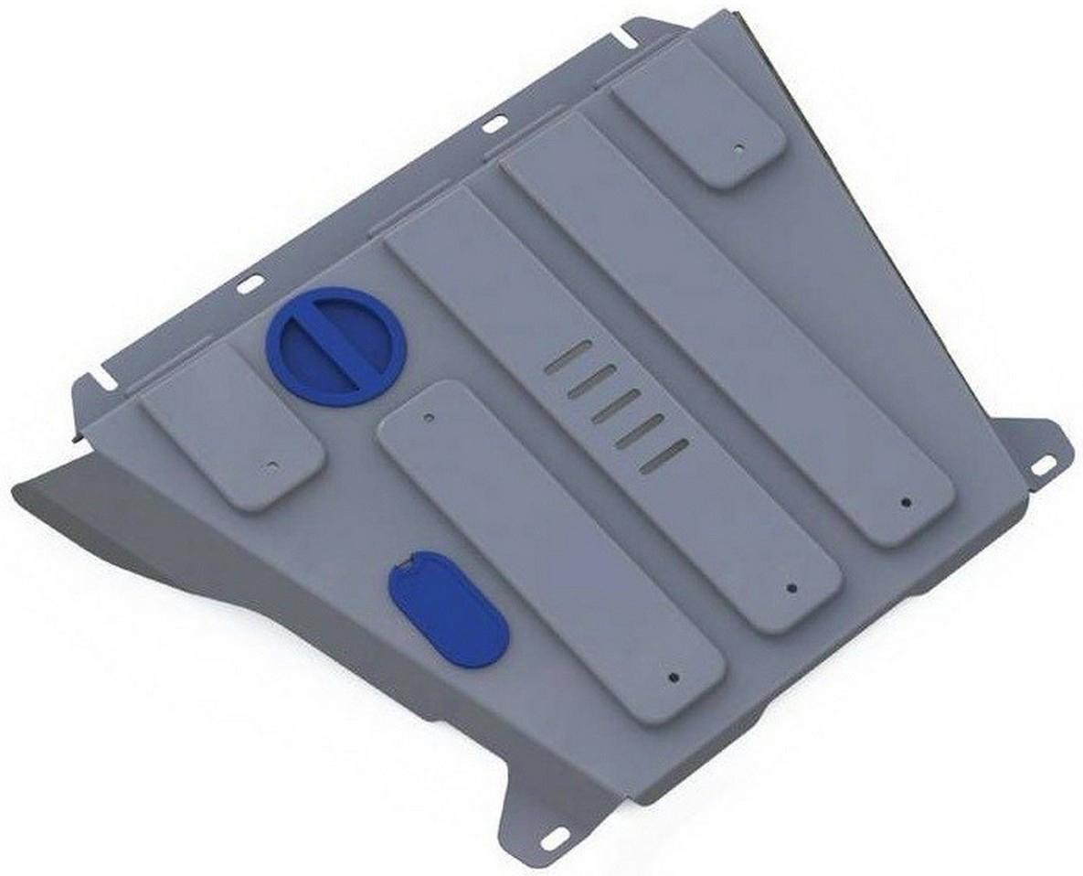 Защита картера и КПП Rival для Ford Explorer 2011-2014, алюминий 4 мм333.1836.1Защита картера и КПП Rival для Ford Explorer V - 3.5 2011-2014, алюминий 4 мм, крепеж в комплекте, 333.1836.1Алюминиевые защиты Rival надежно защищают днище вашего автомобиля от повреждений, например при наезде на бордюры, а также выполняют эстетическую функцию при установке на высокие автомобили.- Толщина алюминиевых защит в 2 раза толще стальных, а вес при этом меньше до 30%.- Отлично отводит тепло от двигателя своей поверхностью, что спасает двигатель от перегрева в летний период или при высоких нагрузках.- В отличие от стальных, алюминиевые защиты не поддаются коррозии, что гарантирует срок службы защит более 5 лет.- Покрываются порошковой краской, что надолго сохраняет первоначальный вид новой защиты и защищает от гальванической коррозии.- Глубокий штамп дополнительно усиливает конструкцию защиты.- Подштамповка в местах крепления защищает крепеж от срезания.- Технологические отверстия там, где они необходимы для смены масла и слива воды, оборудованные заглушками, надежно закрепленными на защите.- Помимо основной функции защиты от удара, конструкция так же существенно снижает попадание в моторный отсек влаги и грязи.В комплекте инструкция по установке.Уважаемые клиенты!Обращаем ваше внимание, на тот факт, что защита имеет форму, соответствующую модели данного автомобиля. Наличие глубокого штампа и лючков для смены фильтров/масла предусмотрено не на всех защитах. Фото служит для визуального восприятия товара.