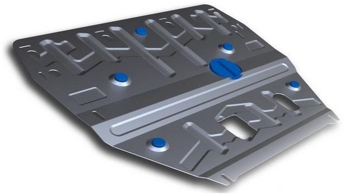 Защита картера и КПП Rival для Hyundai i40 2012-2015 i40 2015-, алюминий 4 мм333.2342.1Защита картера и КПП Rival для Hyundai i40 V - 2.0 2015-н.в./Hyundai i40 V - 2.0 2012-2015, алюминий 4 мм, крепеж в комплекте, 333.2342.1Алюминиевые защиты Rival надежно защищают днище вашего автомобиля от повреждений, например при наезде на бордюры, а также выполняют эстетическую функцию при установке на высокие автомобили.- Толщина алюминиевых защит в 2 раза толще стальных, а вес при этом меньше до 30%.- Отлично отводит тепло от двигателя своей поверхностью, что спасает двигатель от перегрева в летний период или при высоких нагрузках.- В отличие от стальных, алюминиевые защиты не поддаются коррозии, что гарантирует срок службы защит более 5 лет.- Покрываются порошковой краской, что надолго сохраняет первоначальный вид новой защиты и защищает от гальванической коррозии.- Глубокий штамп дополнительно усиливает конструкцию защиты.- Подштамповка в местах крепления защищает крепеж от срезания.- Технологические отверстия там, где они необходимы для смены масла и слива воды, оборудованные заглушками, надежно закрепленными на защите.- Помимо основной функции защиты от удара, конструкция так же существенно снижает попадание в моторный отсек влаги и грязи.В комплекте инструкция по установке.Уважаемые клиенты!Обращаем ваше внимание, на тот факт, что защита имеет форму, соответствующую модели данного автомобиля. Наличие глубокого штампа и лючков для смены фильтров/масла предусмотрено не на всех защитах. Фото служит для визуального восприятия товара.
