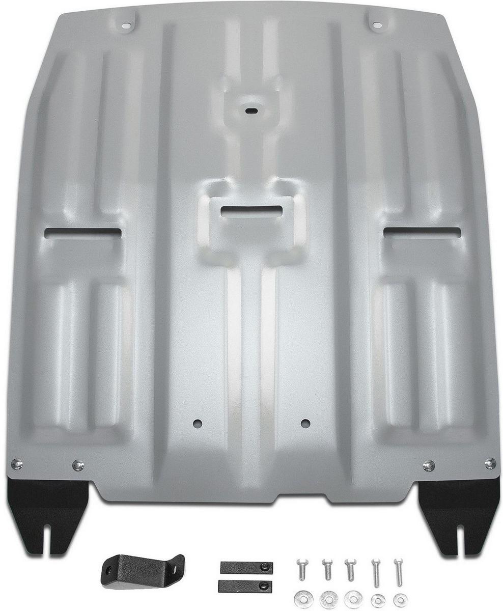 Защита картера и КПП Rival для Hyundai Tucson 2015- / Kia Sportage 2016-, алюминий 4 мм333.2357.1Защита картера и КПП Rival для Hyundai Tucson V - 1.6; 1.6T(177 л.с.); 2.0; 2.0d 2015-н.в./Kia Sportage V - 1.6T(177 л.с.); 2.0; 2.0d 2016-н.в., алюминий 4 мм, крепеж в комплекте, 333.2357.1Алюминиевые защиты Rival надежно защищают днище вашего автомобиля от повреждений, например при наезде на бордюры, а также выполняют эстетическую функцию при установке на высокие автомобили.- Толщина алюминиевых защит в 2 раза толще стальных, а вес при этом меньше до 30%.- Отлично отводит тепло от двигателя своей поверхностью, что спасает двигатель от перегрева в летний период или при высоких нагрузках.- В отличие от стальных, алюминиевые защиты не поддаются коррозии, что гарантирует срок службы защит более 5 лет.- Покрываются порошковой краской, что надолго сохраняет первоначальный вид новой защиты и защищает от гальванической коррозии.- Глубокий штамп дополнительно усиливает конструкцию защиты.- Подштамповка в местах крепления защищает крепеж от срезания.- Технологические отверстия там, где они необходимы для смены масла и слива воды, оборудованные заглушками, надежно закрепленными на защите.- Помимо основной функции защиты от удара, конструкция так же существенно снижает попадание в моторный отсек влаги и грязи.В комплекте инструкция по установке.Уважаемые клиенты!Обращаем ваше внимание, на тот факт, что защита имеет форму, соответствующую модели данного автомобиля. Наличие глубокого штампа и лючков для смены фильтров/масла предусмотрено не на всех защитах. Фото служит для визуального восприятия товара.