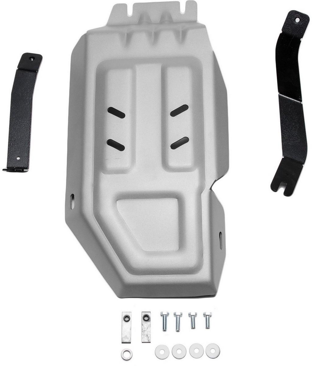 Защита редуктора Rival для Hyundai Tucson 2015- / Kia Sportage 2016-, алюминий 4 мм333.2359.1Защита редуктора Rival для Hyundai Tucson V - 1.6T(177 л.с.); 2.0; 2.0d 4WD 2015-н.в./Kia Sportage V - 1.6T(177 л.с.); 2.0; 2.0d 4WD 2016-н.в., алюминий 4 мм, крепеж в комплекте, 333.2359.1Алюминиевые защиты Rival надежно защищают днище вашего автомобиля от повреждений, например при наезде на бордюры, а также выполняют эстетическую функцию при установке на высокие автомобили.- Толщина алюминиевых защит в 2 раза толще стальных, а вес при этом меньше до 30%.- Отлично отводит тепло от двигателя своей поверхностью, что спасает двигатель от перегрева в летний период или при высоких нагрузках.- В отличие от стальных, алюминиевые защиты не поддаются коррозии, что гарантирует срок службы защит более 5 лет.- Покрываются порошковой краской, что надолго сохраняет первоначальный вид новой защиты и защищает от гальванической коррозии.- Глубокий штамп дополнительно усиливает конструкцию защиты.- Подштамповка в местах крепления защищает крепеж от срезания.- Технологические отверстия там, где они необходимы для смены масла и слива воды, оборудованные заглушками, надежно закрепленными на защите.- Помимо основной функции защиты от удара, конструкция так же существенно снижает попадание в моторный отсек влаги и грязи.В комплекте инструкция по установке.Уважаемые клиенты!Обращаем ваше внимание, на тот факт, что защита имеет форму, соответствующую модели данного автомобиля. Наличие глубокого штампа и лючков для смены фильтров/масла предусмотрено не на всех защитах. Фото служит для визуального восприятия товара.