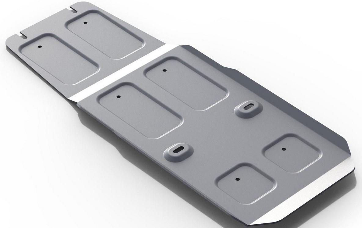 Защита КПП Rival для Infiniti QX70 2013- / Infiniti FX 35 / 37 2008-2013, алюминий 4 мм333.2402.1Защита КПП Rival для Infiniti QX70 V - 3.0; 3.7 2013-н.в./Infiniti FX35 V - 3.5 2008-2010/Infiniti FX37 V - 3.7 2010-2013, алюминий 4 мм, крепеж в комплекте, 333.2402.1Алюминиевые защиты Rival надежно защищают днище вашего автомобиля от повреждений, например при наезде на бордюры, а также выполняют эстетическую функцию при установке на высокие автомобили.- Толщина алюминиевых защит в 2 раза толще стальных, а вес при этом меньше до 30%.- Отлично отводит тепло от двигателя своей поверхностью, что спасает двигатель от перегрева в летний период или при высоких нагрузках.- В отличие от стальных, алюминиевые защиты не поддаются коррозии, что гарантирует срок службы защит более 5 лет.- Покрываются порошковой краской, что надолго сохраняет первоначальный вид новой защиты и защищает от гальванической коррозии.- Глубокий штамп дополнительно усиливает конструкцию защиты.- Подштамповка в местах крепления защищает крепеж от срезания.- Технологические отверстия там, где они необходимы для смены масла и слива воды, оборудованные заглушками, надежно закрепленными на защите.- Помимо основной функции защиты от удара, конструкция так же существенно снижает попадание в моторный отсек влаги и грязи.В комплекте инструкция по установке.Уважаемые клиенты!Обращаем ваше внимание, на тот факт, что защита имеет форму, соответствующую модели данного автомобиля. Наличие глубокого штампа и лючков для смены фильтров/масла предусмотрено не на всех защитах. Фото служит для визуального восприятия товара.