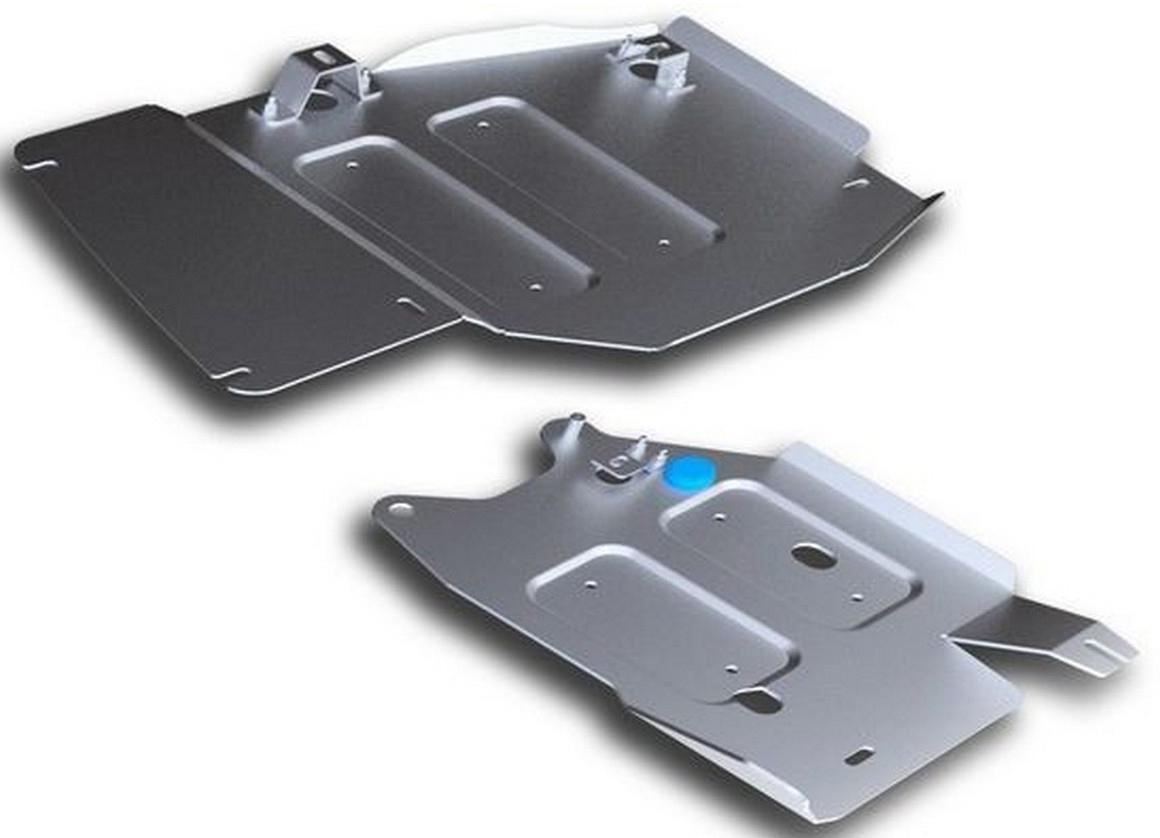Защита РК и топливных трубок Rival для Jeep Grand Cherokee 2010-2014 2014-, алюминий 4 мм333.2735.1Защита РК и топливных трубок Rival для Jeep Grand Cherokee V - 3.0; 3.0d; 3.6; 5.7 2014-н.в./Jeep Grand Cherokee V - 3.0; 3.0d; 3.6; 5.7 2010-2014, алюминий 4 мм, крепеж в комплекте, 333.2735.1Алюминиевые защиты Rival надежно защищают днище вашего автомобиля от повреждений, например при наезде на бордюры, а также выполняют эстетическую функцию при установке на высокие автомобили.- Толщина алюминиевых защит в 2 раза толще стальных, а вес при этом меньше до 30%.- Отлично отводит тепло от двигателя своей поверхностью, что спасает двигатель от перегрева в летний период или при высоких нагрузках.- В отличие от стальных, алюминиевые защиты не поддаются коррозии, что гарантирует срок службы защит более 5 лет.- Покрываются порошковой краской, что надолго сохраняет первоначальный вид новой защиты и защищает от гальванической коррозии.- Глубокий штамп дополнительно усиливает конструкцию защиты.- Подштамповка в местах крепления защищает крепеж от срезания.- Технологические отверстия там, где они необходимы для смены масла и слива воды, оборудованные заглушками, надежно закрепленными на защите.- Помимо основной функции защиты от удара, конструкция так же существенно снижает попадание в моторный отсек влаги и грязи.В комплекте инструкция по установке.Уважаемые клиенты!Обращаем ваше внимание, на тот факт, что защита имеет форму, соответствующую модели данного автомобиля. Наличие глубокого штампа и лючков для смены фильтров/масла предусмотрено не на всех защитах. Фото служит для визуального восприятия товара.