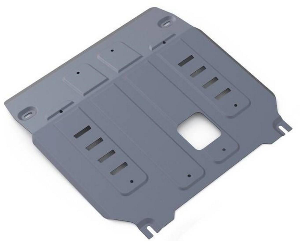 Защита картера и КПП Rival для Kia Sorento Prime 2015-, алюминий 4 мм333.2831.1Защита картера и КПП Rival для Kia Sorento Prime V - 2.4; 2.2d; 3.3 2015-н.в., алюминий 4 мм, крепеж в комплекте, 333.2831.1Алюминиевые защиты Rival надежно защищают днище вашего автомобиля от повреждений, например при наезде на бордюры, а также выполняют эстетическую функцию при установке на высокие автомобили.- Толщина алюминиевых защит в 2 раза толще стальных, а вес при этом меньше до 30%.- Отлично отводит тепло от двигателя своей поверхностью, что спасает двигатель от перегрева в летний период или при высоких нагрузках.- В отличие от стальных, алюминиевые защиты не поддаются коррозии, что гарантирует срок службы защит более 5 лет.- Покрываются порошковой краской, что надолго сохраняет первоначальный вид новой защиты и защищает от гальванической коррозии.- Глубокий штамп дополнительно усиливает конструкцию защиты.- Подштамповка в местах крепления защищает крепеж от срезания.- Технологические отверстия там, где они необходимы для смены масла и слива воды, оборудованные заглушками, надежно закрепленными на защите.- Помимо основной функции защиты от удара, конструкция так же существенно снижает попадание в моторный отсек влаги и грязи.В комплекте инструкция по установке.Уважаемые клиенты!Обращаем ваше внимание, на тот факт, что защита имеет форму, соответствующую модели данного автомобиля. Наличие глубокого штампа и лючков для смены фильтров/масла предусмотрено не на всех защитах. Фото служит для визуального восприятия товара.