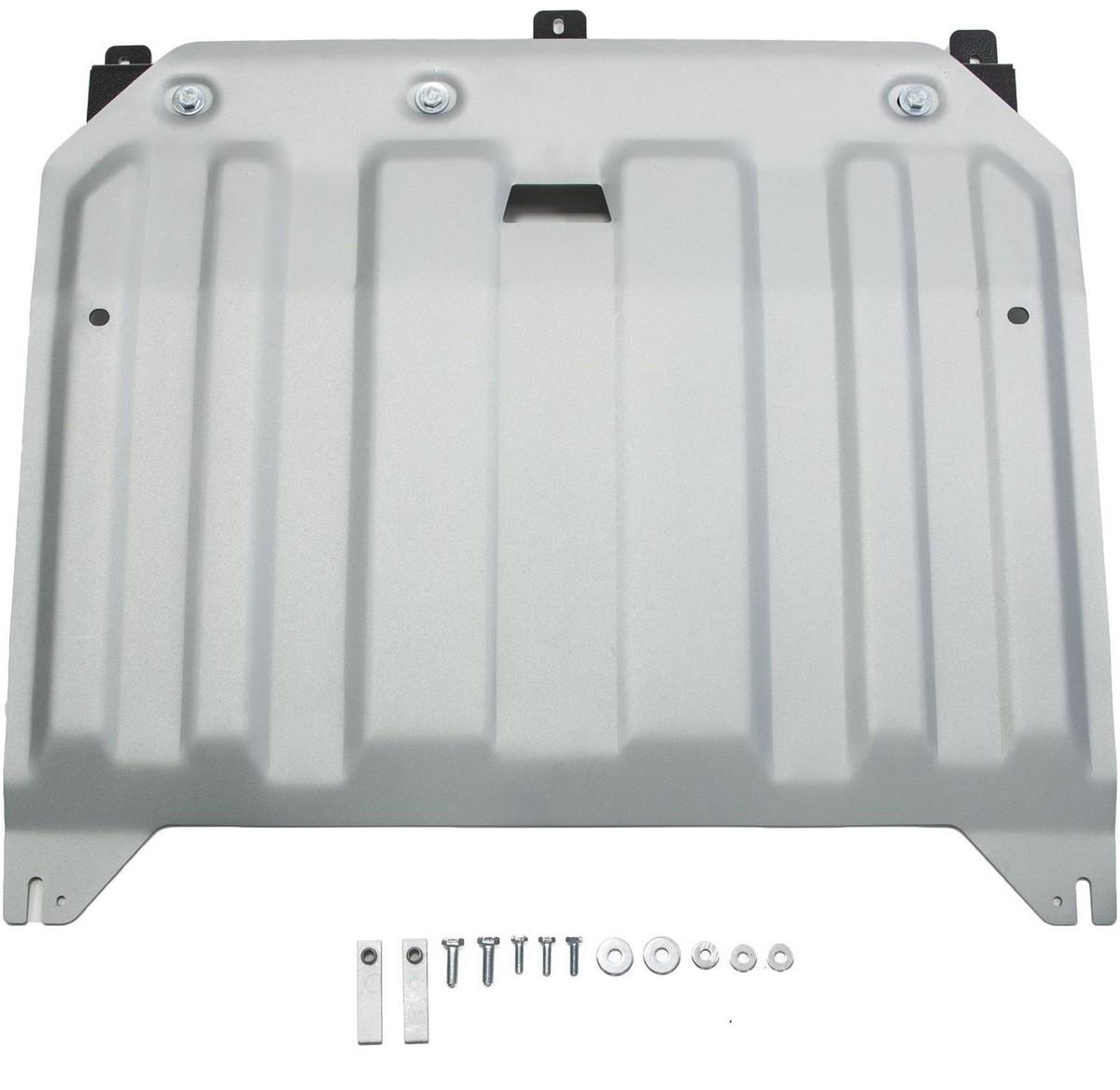 Защита картера и КПП Rival для Hyundai i30 2015-2017 / Kia Ceed 2015- / Kia Cerato 2015-2016 2016-н.в, алюминий 4 мм333.2836.1Защита картера и КПП Rival для Hyundai i30 V - 1.4 (100 л.с.); 1.6 (130 л.с.) 2015-2017/Kia Ceed V - 1.4 (100 л.с.); 1.6 (130 л.с.); 1.6 (135 л.с.) 2015-н.в./Kia Ceed универсал V - 1.4 (100 л.с.); 1.6 (130 л.с.); 1.6 (135 л.с.) 2015-н.в./Kia Cerato V - 1.6 (130 л.с.) АКПП 2016-н.в./Kia Pro Ceed V - 1.6 (130 л.с.); 1.6 (135 л.с.) 2015-н.в./Kia Cerato V - 1.6 (130 л.с.); 2.0 (150 л.с.) 2015-2016, алюминий 4 мм, крепеж в комплекте, 333.2836.1Алюминиевые защиты Rival надежно защищают днище вашего автомобиля от повреждений, например при наезде на бордюры, а также выполняют эстетическую функцию при установке на высокие автомобили.- Толщина алюминиевых защит в 2 раза толще стальных, а вес при этом меньше до 30%.- Отлично отводит тепло от двигателя своей поверхностью, что спасает двигатель от перегрева в летний период или при высоких нагрузках.- В отличие от стальных, алюминиевые защиты не поддаются коррозии, что гарантирует срок службы защит более 5 лет.- Покрываются порошковой краской, что надолго сохраняет первоначальный вид новой защиты и защищает от гальванической коррозии.- Глубокий штамп дополнительно усиливает конструкцию защиты.- Подштамповка в местах крепления защищает крепеж от срезания.- Технологические отверстия там, где они необходимы для смены масла и слива воды, оборудованные заглушками, надежно закрепленными на защите.- Помимо основной функции защиты от удара, конструкция так же существенно снижает попадание в моторный отсек влаги и грязи.В комплекте инструкция по установке.Уважаемые клиенты!Обращаем ваше внимание, на тот факт, что защита имеет форму, соответствующую модели данного автомобиля. Наличие глубокого штампа и лючков для смены фильтров/масла предусмотрено не на всех защитах. Фото служит для визуального восприятия товара.