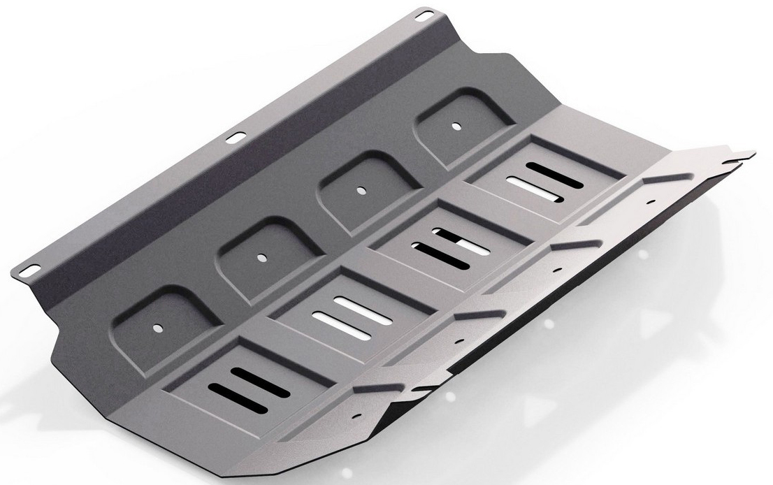 Защита радиатора Rival для Mitsubishi L200 2006-2015 / Mitsubishi Pajero Sport 2008-2016, алюминий 4 мм333.4005.1Защита радиатора Rival для Mitsubishi L200 V - все 2006-2015/Mitsubishi Pajero Sport V - все 2008-2016, алюминий 4 мм, крепеж в комплекте, 333.4005.1Алюминиевые защиты Rival надежно защищают днище вашего автомобиля от повреждений, например при наезде на бордюры, а также выполняют эстетическую функцию при установке на высокие автомобили.- Толщина алюминиевых защит в 2 раза толще стальных, а вес при этом меньше до 30%.- Отлично отводит тепло от двигателя своей поверхностью, что спасает двигатель от перегрева в летний период или при высоких нагрузках.- В отличие от стальных, алюминиевые защиты не поддаются коррозии, что гарантирует срок службы защит более 5 лет.- Покрываются порошковой краской, что надолго сохраняет первоначальный вид новой защиты и защищает от гальванической коррозии.- Глубокий штамп дополнительно усиливает конструкцию защиты.- Подштамповка в местах крепления защищает крепеж от срезания.- Технологические отверстия там, где они необходимы для смены масла и слива воды, оборудованные заглушками, надежно закрепленными на защите.- Помимо основной функции защиты от удара, конструкция так же существенно снижает попадание в моторный отсек влаги и грязи.В комплекте инструкция по установке.Уважаемые клиенты!Обращаем ваше внимание, на тот факт, что защита имеет форму, соответствующую модели данного автомобиля. Наличие глубокого штампа и лючков для смены фильтров/масла предусмотрено не на всех защитах. Фото служит для визуального восприятия товара.