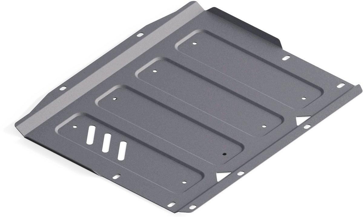 Защита КПП Rival для Mitsubishi Pajero IV 2006-2011 2011-, алюминий 4 мм333.4044.1Защита КПП Rival для Mitsubishi Pajero IV V - 3.0; 3.2d(188 л.с., 200 л.с.); 3.8 2011-н.в./Mitsubishi Pajero IV V - 3.0; 3.2d(188 л.с., 200 л.с.); 3.8 2006-2011, алюминий 4 мм, крепеж в комплекте, 333.4044.1Алюминиевые защиты Rival надежно защищают днище вашего автомобиля от повреждений, например при наезде на бордюры, а также выполняют эстетическую функцию при установке на высокие автомобили.- Толщина алюминиевых защит в 2 раза толще стальных, а вес при этом меньше до 30%.- Отлично отводит тепло от двигателя своей поверхностью, что спасает двигатель от перегрева в летний период или при высоких нагрузках.- В отличие от стальных, алюминиевые защиты не поддаются коррозии, что гарантирует срок службы защит более 5 лет.- Покрываются порошковой краской, что надолго сохраняет первоначальный вид новой защиты и защищает от гальванической коррозии.- Глубокий штамп дополнительно усиливает конструкцию защиты.- Подштамповка в местах крепления защищает крепеж от срезания.- Технологические отверстия там, где они необходимы для смены масла и слива воды, оборудованные заглушками, надежно закрепленными на защите.- Помимо основной функции защиты от удара, конструкция так же существенно снижает попадание в моторный отсек влаги и грязи.В комплекте инструкция по установке.Уважаемые клиенты!Обращаем ваше внимание, на тот факт, что защита имеет форму, соответствующую модели данного автомобиля. Наличие глубокого штампа и лючков для смены фильтров/масла предусмотрено не на всех защитах. Фото служит для визуального восприятия товара.