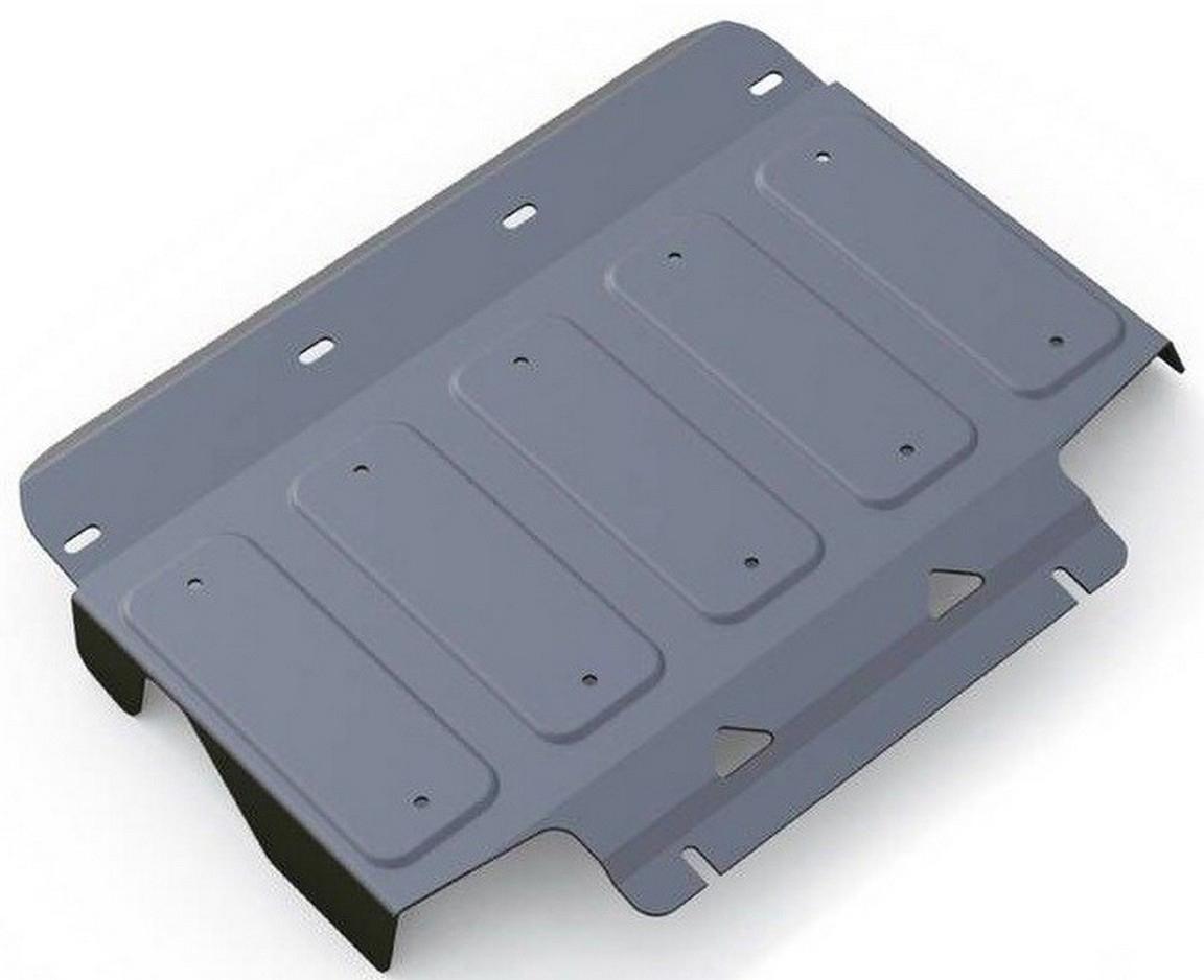 Защита радиатора Rival для Infiniti QX80 2013- / Infiniti QX56 2010-2013, алюминий 4 мм, штатный крепеж, 3.2408.13.2408.1Защита радиатора Rival для Infiniti QX80 V - 5.6 2013-н.в./Infiniti QX56 V - 5.6 2010-2013, алюминий 4 мм, штатный крепеж, 3.2408.1Алюминиевые защиты Rival надежно защищают днище вашего автомобиля от повреждений, например при наезде на бордюры, а также выполняют эстетическую функцию при установке на высокие автомобили.- Толщина алюминиевых защит в 2 раза толще стальных, а вес при этом меньше до 30%.- Отлично отводит тепло от двигателя своей поверхностью, что спасает двигатель от перегрева в летний период или при высоких нагрузках.- В отличие от стальных, алюминиевые защиты не поддаются коррозии, что гарантирует срок службы защит более 5 лет.- Покрываются порошковой краской, что надолго сохраняет первоначальный вид новой защиты и защищает от гальванической коррозии.- Глубокий штамп дополнительно усиливает конструкцию защиты.- Подштамповка в местах крепления защищает крепеж от срезания.- Технологические отверстия там, где они необходимы для смены масла и слива воды, оборудованные заглушками, надежно закрепленными на защите.- Помимо основной функции защиты от удара, конструкция так же существенно снижает попадание в моторный отсек влаги и грязи.В комплекте инструкция по установке.Уважаемые клиенты!Обращаем ваше внимание, на тот факт, что защита имеет форму, соответствующую модели данного автомобиля. Наличие глубокого штампа и лючков для смены фильтров/масла предусмотрено не на всех защитах. Фото служит для визуального восприятия товара.