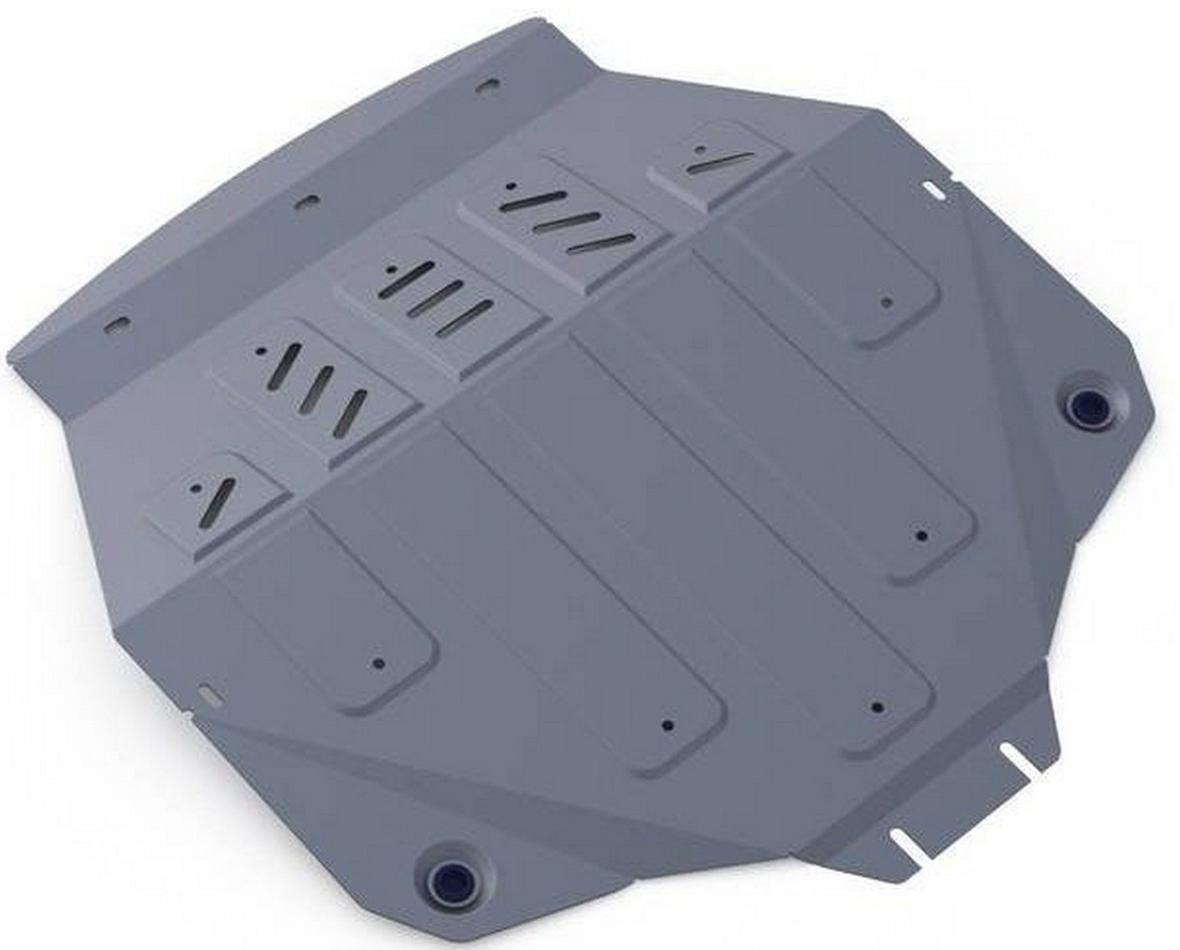 Защита картера и КПП Rival для Acura MDX 2014-2016 / Honda Pilot 2016-, алюминий 4 мм333.0101.1Защита картера и КПП Rival для Acura MDX V - 3.5 2014-2016/Honda Pilot V - 3.0 2016-н.в., алюминий 4 мм, крепеж в комплекте, 333.0101.1Алюминиевые защиты Rival надежно защищают днище вашего автомобиля от повреждений, например при наезде на бордюры, а также выполняют эстетическую функцию при установке на высокие автомобили.- Толщина алюминиевых защит в 2 раза толще стальных, а вес при этом меньше до 30%.- Отлично отводит тепло от двигателя своей поверхностью, что спасает двигатель от перегрева в летний период или при высоких нагрузках.- В отличие от стальных, алюминиевые защиты не поддаются коррозии, что гарантирует срок службы защит более 5 лет.- Покрываются порошковой краской, что надолго сохраняет первоначальный вид новой защиты и защищает от гальванической коррозии.- Глубокий штамп дополнительно усиливает конструкцию защиты.- Подштамповка в местах крепления защищает крепеж от срезания.- Технологические отверстия там, где они необходимы для смены масла и слива воды, оборудованные заглушками, надежно закрепленными на защите.- Помимо основной функции защиты от удара, конструкция так же существенно снижает попадание в моторный отсек влаги и грязи.В комплекте инструкция по установке.Уважаемые клиенты!Обращаем ваше внимание, на тот факт, что защита имеет форму, соответствующую модели данного автомобиля. Наличие глубокого штампа и лючков для смены фильтров/масла предусмотрено не на всех защитах. Фото служит для визуального восприятия товара.