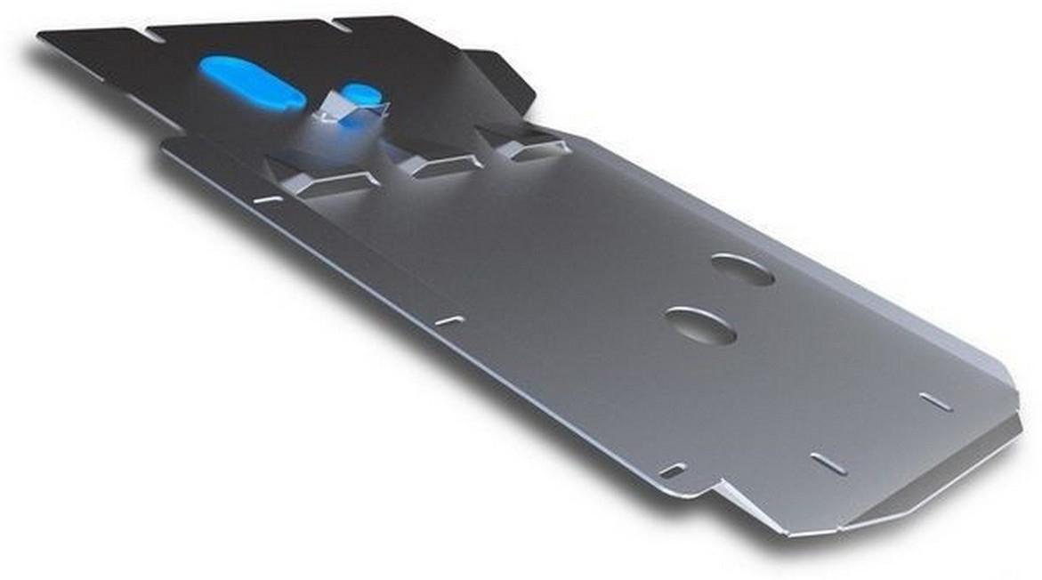 Защита КПП и РК Rival для BMW X1 2009-2015, алюминий 4 мм333.0517.1Защита КПП и РК Rival для BMW X1 V - 20i; 20d; 25d 4WD 2009-2015, алюминий 4 мм, крепеж в комплекте, 333.0517.1Алюминиевые защиты Rival надежно защищают днище вашего автомобиля от повреждений, например при наезде на бордюры, а также выполняют эстетическую функцию при установке на высокие автомобили.- Толщина алюминиевых защит в 2 раза толще стальных, а вес при этом меньше до 30%.- Отлично отводит тепло от двигателя своей поверхностью, что спасает двигатель от перегрева в летний период или при высоких нагрузках.- В отличие от стальных, алюминиевые защиты не поддаются коррозии, что гарантирует срок службы защит более 5 лет.- Покрываются порошковой краской, что надолго сохраняет первоначальный вид новой защиты и защищает от гальванической коррозии.- Глубокий штамп дополнительно усиливает конструкцию защиты.- Подштамповка в местах крепления защищает крепеж от срезания.- Технологические отверстия там, где они необходимы для смены масла и слива воды, оборудованные заглушками, надежно закрепленными на защите.- Помимо основной функции защиты от удара, конструкция так же существенно снижает попадание в моторный отсек влаги и грязи.В комплекте инструкция по установке.Уважаемые клиенты!Обращаем ваше внимание, на тот факт, что защита имеет форму, соответствующую модели данного автомобиля. Наличие глубокого штампа и лючков для смены фильтров/масла предусмотрено не на всех защитах. Фото служит для визуального восприятия товара.