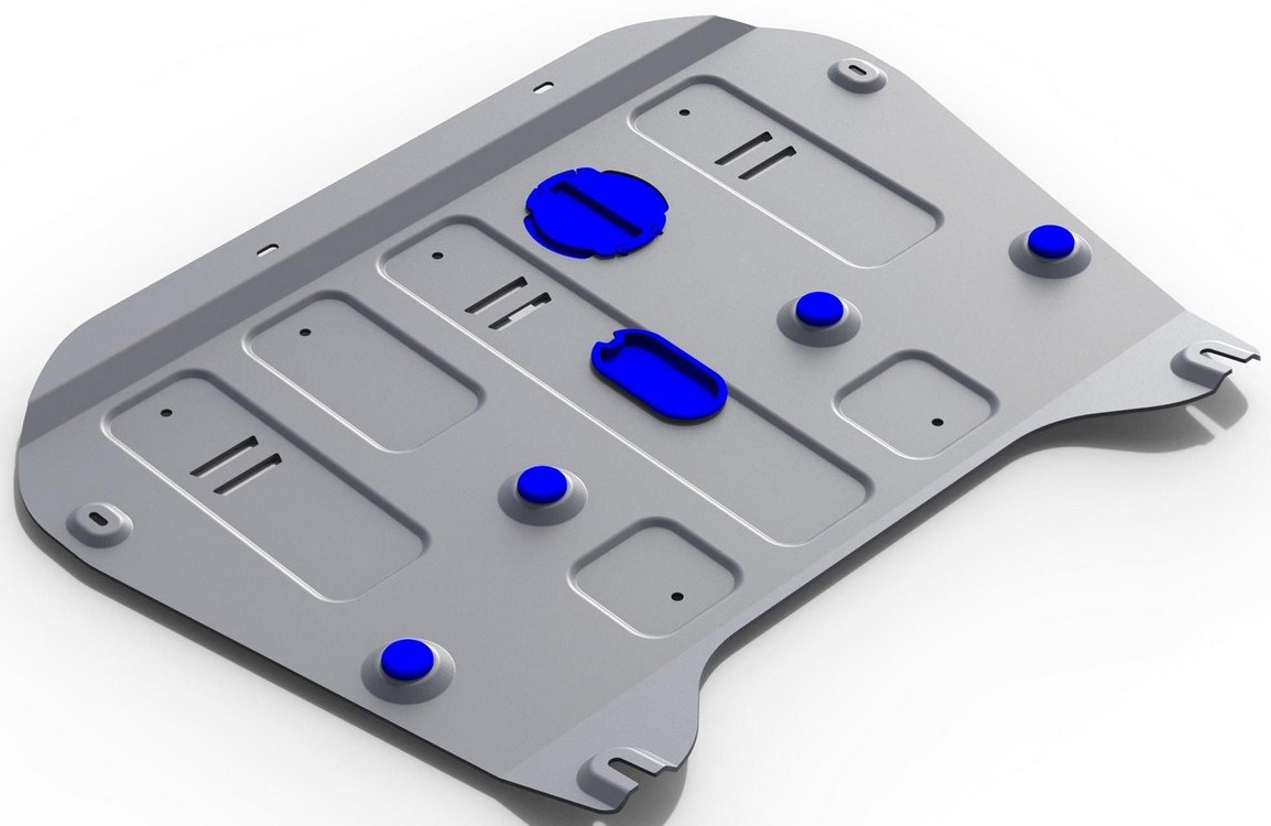 Защита картера и КПП Rival для Cadillac XT5 2016-, алюминий 4 мм333.0811.1Защита картера и КПП Rival для Cadillac XT5 V - 3.6 2016-н.в., алюминий 4 мм, крепеж в комплекте, 333.0811.1Алюминиевые защиты Rival надежно защищают днище вашего автомобиля от повреждений, например при наезде на бордюры, а также выполняют эстетическую функцию при установке на высокие автомобили.- Толщина алюминиевых защит в 2 раза толще стальных, а вес при этом меньше до 30%.- Отлично отводит тепло от двигателя своей поверхностью, что спасает двигатель от перегрева в летний период или при высоких нагрузках.- В отличие от стальных, алюминиевые защиты не поддаются коррозии, что гарантирует срок службы защит более 5 лет.- Покрываются порошковой краской, что надолго сохраняет первоначальный вид новой защиты и защищает от гальванической коррозии.- Глубокий штамп дополнительно усиливает конструкцию защиты.- Подштамповка в местах крепления защищает крепеж от срезания.- Технологические отверстия там, где они необходимы для смены масла и слива воды, оборудованные заглушками, надежно закрепленными на защите.- Помимо основной функции защиты от удара, конструкция так же существенно снижает попадание в моторный отсек влаги и грязи.В комплекте инструкция по установке.Уважаемые клиенты!Обращаем ваше внимание, на тот факт, что защита имеет форму, соответствующую модели данного автомобиля. Наличие глубокого штампа и лючков для смены фильтров/масла предусмотрено не на всех защитах. Фото служит для визуального восприятия товара.