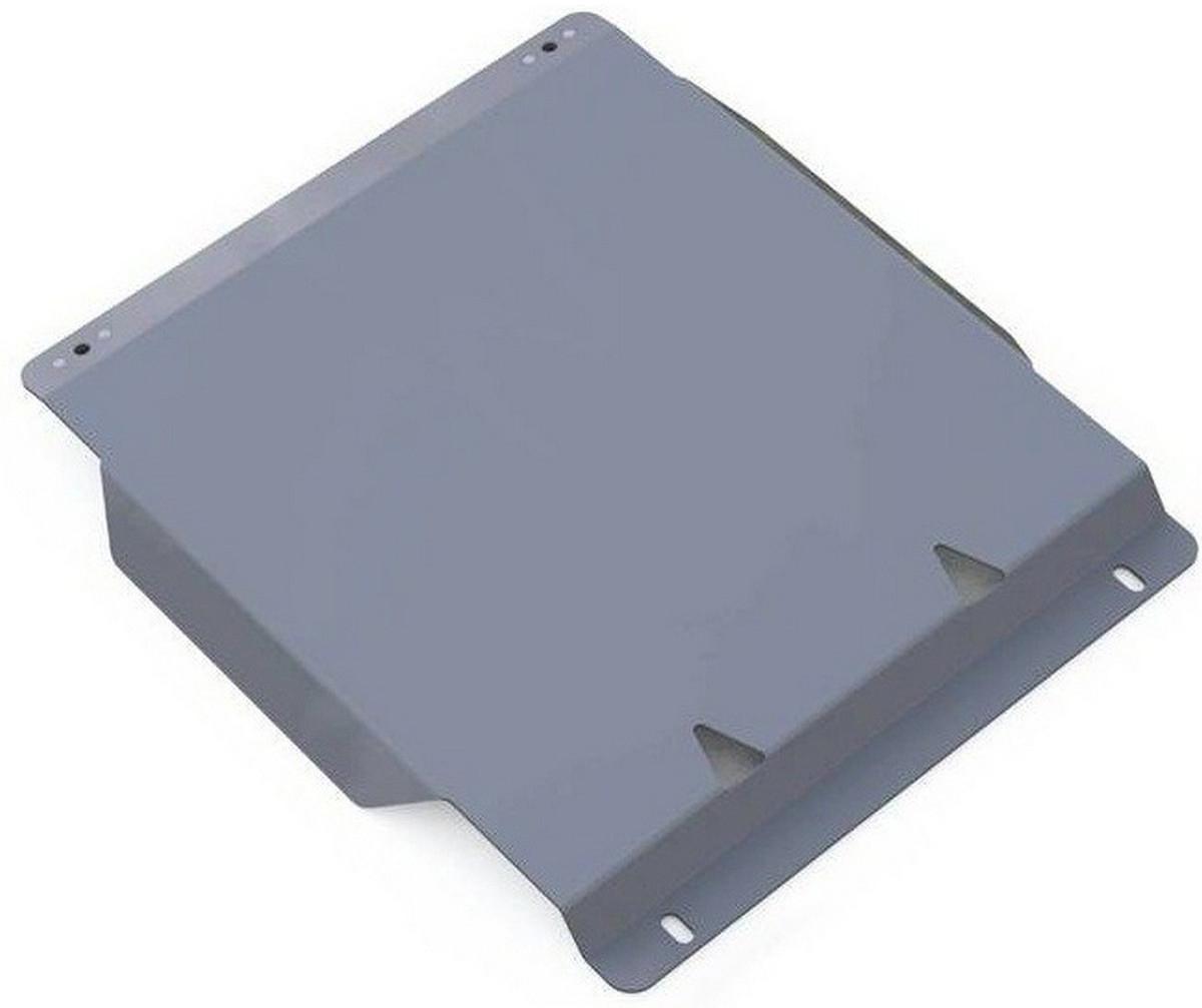 Защита КПП Rival для Ford Explorer 2006-2011, алюминий 4 мм333.1819.1Защита КПП Rival для Ford Explorer V - 4.0; 4.6 2006-2011, алюминий 4 мм, крепеж в комплекте, 333.1819.1Алюминиевые защиты Rival надежно защищают днище вашего автомобиля от повреждений, например при наезде на бордюры, а также выполняют эстетическую функцию при установке на высокие автомобили.- Толщина алюминиевых защит в 2 раза толще стальных, а вес при этом меньше до 30%.- Отлично отводит тепло от двигателя своей поверхностью, что спасает двигатель от перегрева в летний период или при высоких нагрузках.- В отличие от стальных, алюминиевые защиты не поддаются коррозии, что гарантирует срок службы защит более 5 лет.- Покрываются порошковой краской, что надолго сохраняет первоначальный вид новой защиты и защищает от гальванической коррозии.- Глубокий штамп дополнительно усиливает конструкцию защиты.- Подштамповка в местах крепления защищает крепеж от срезания.- Технологические отверстия там, где они необходимы для смены масла и слива воды, оборудованные заглушками, надежно закрепленными на защите.- Помимо основной функции защиты от удара, конструкция так же существенно снижает попадание в моторный отсек влаги и грязи.В комплекте инструкция по установке.Уважаемые клиенты!Обращаем ваше внимание, на тот факт, что защита имеет форму, соответствующую модели данного автомобиля. Наличие глубокого штампа и лючков для смены фильтров/масла предусмотрено не на всех защитах. Фото служит для визуального восприятия товара.