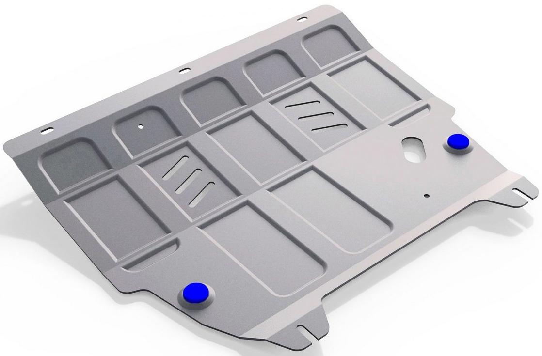 Защита картера и КПП Rival для Ford Ecosport 2014-, алюминий 4 мм333.1852.1Защита картера и КПП Rival для Ford Ecosport V - 1.6; 2.0 2014-н.в., алюминий 4 мм, крепеж в комплекте, 333.1852.1Алюминиевые защиты Rival надежно защищают днище вашего автомобиля от повреждений, например при наезде на бордюры, а также выполняют эстетическую функцию при установке на высокие автомобили.- Толщина алюминиевых защит в 2 раза толще стальных, а вес при этом меньше до 30%.- Отлично отводит тепло от двигателя своей поверхностью, что спасает двигатель от перегрева в летний период или при высоких нагрузках.- В отличие от стальных, алюминиевые защиты не поддаются коррозии, что гарантирует срок службы защит более 5 лет.- Покрываются порошковой краской, что надолго сохраняет первоначальный вид новой защиты и защищает от гальванической коррозии.- Глубокий штамп дополнительно усиливает конструкцию защиты.- Подштамповка в местах крепления защищает крепеж от срезания.- Технологические отверстия там, где они необходимы для смены масла и слива воды, оборудованные заглушками, надежно закрепленными на защите.- Помимо основной функции защиты от удара, конструкция так же существенно снижает попадание в моторный отсек влаги и грязи.В комплекте инструкция по установке.Уважаемые клиенты!Обращаем ваше внимание, на тот факт, что защита имеет форму, соответствующую модели данного автомобиля. Наличие глубокого штампа и лючков для смены фильтров/масла предусмотрено не на всех защитах. Фото служит для визуального восприятия товара.