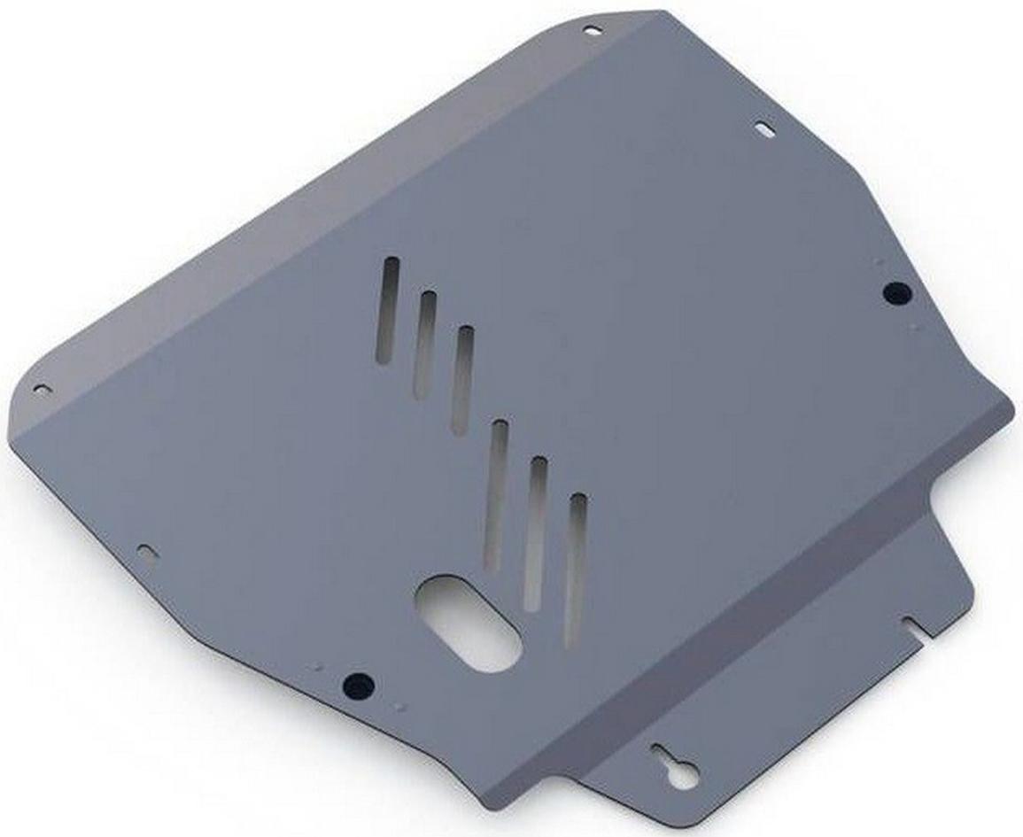 Защита картера и КПП Rival для Hyundai ix55 2008-2013, алюминий 4 мм333.2306.1Защита картера и КПП Rival для Hyundai ix55 V - 3.8 2008-2013, алюминий 4 мм, крепеж в комплекте, 333.2306.1Алюминиевые защиты Rival надежно защищают днище вашего автомобиля от повреждений, например при наезде на бордюры, а также выполняют эстетическую функцию при установке на высокие автомобили.- Толщина алюминиевых защит в 2 раза толще стальных, а вес при этом меньше до 30%.- Отлично отводит тепло от двигателя своей поверхностью, что спасает двигатель от перегрева в летний период или при высоких нагрузках.- В отличие от стальных, алюминиевые защиты не поддаются коррозии, что гарантирует срок службы защит более 5 лет.- Покрываются порошковой краской, что надолго сохраняет первоначальный вид новой защиты и защищает от гальванической коррозии.- Глубокий штамп дополнительно усиливает конструкцию защиты.- Подштамповка в местах крепления защищает крепеж от срезания.- Технологические отверстия там, где они необходимы для смены масла и слива воды, оборудованные заглушками, надежно закрепленными на защите.- Помимо основной функции защиты от удара, конструкция так же существенно снижает попадание в моторный отсек влаги и грязи.В комплекте инструкция по установке.Уважаемые клиенты!Обращаем ваше внимание, на тот факт, что защита имеет форму, соответствующую модели данного автомобиля. Наличие глубокого штампа и лючков для смены фильтров/масла предусмотрено не на всех защитах. Фото служит для визуального восприятия товара.