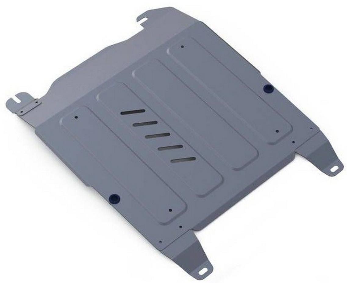 Защита картера и КПП Rival для Hyundai Sonata 2001-2013, алюминий 4 мм333.2310.1Защита картера и КПП Rival для Hyundai Sonata V - 2.0; 2.7 2001-2013, алюминий 4 мм, крепеж в комплекте, 333.2310.1Алюминиевые защиты Rival надежно защищают днище вашего автомобиля от повреждений, например при наезде на бордюры, а также выполняют эстетическую функцию при установке на высокие автомобили.- Толщина алюминиевых защит в 2 раза толще стальных, а вес при этом меньше до 30%.- Отлично отводит тепло от двигателя своей поверхностью, что спасает двигатель от перегрева в летний период или при высоких нагрузках.- В отличие от стальных, алюминиевые защиты не поддаются коррозии, что гарантирует срок службы защит более 5 лет.- Покрываются порошковой краской, что надолго сохраняет первоначальный вид новой защиты и защищает от гальванической коррозии.- Глубокий штамп дополнительно усиливает конструкцию защиты.- Подштамповка в местах крепления защищает крепеж от срезания.- Технологические отверстия там, где они необходимы для смены масла и слива воды, оборудованные заглушками, надежно закрепленными на защите.- Помимо основной функции защиты от удара, конструкция так же существенно снижает попадание в моторный отсек влаги и грязи.В комплекте инструкция по установке.Уважаемые клиенты!Обращаем ваше внимание, на тот факт, что защита имеет форму, соответствующую модели данного автомобиля. Наличие глубокого штампа и лючков для смены фильтров/масла предусмотрено не на всех защитах. Фото служит для визуального восприятия товара.