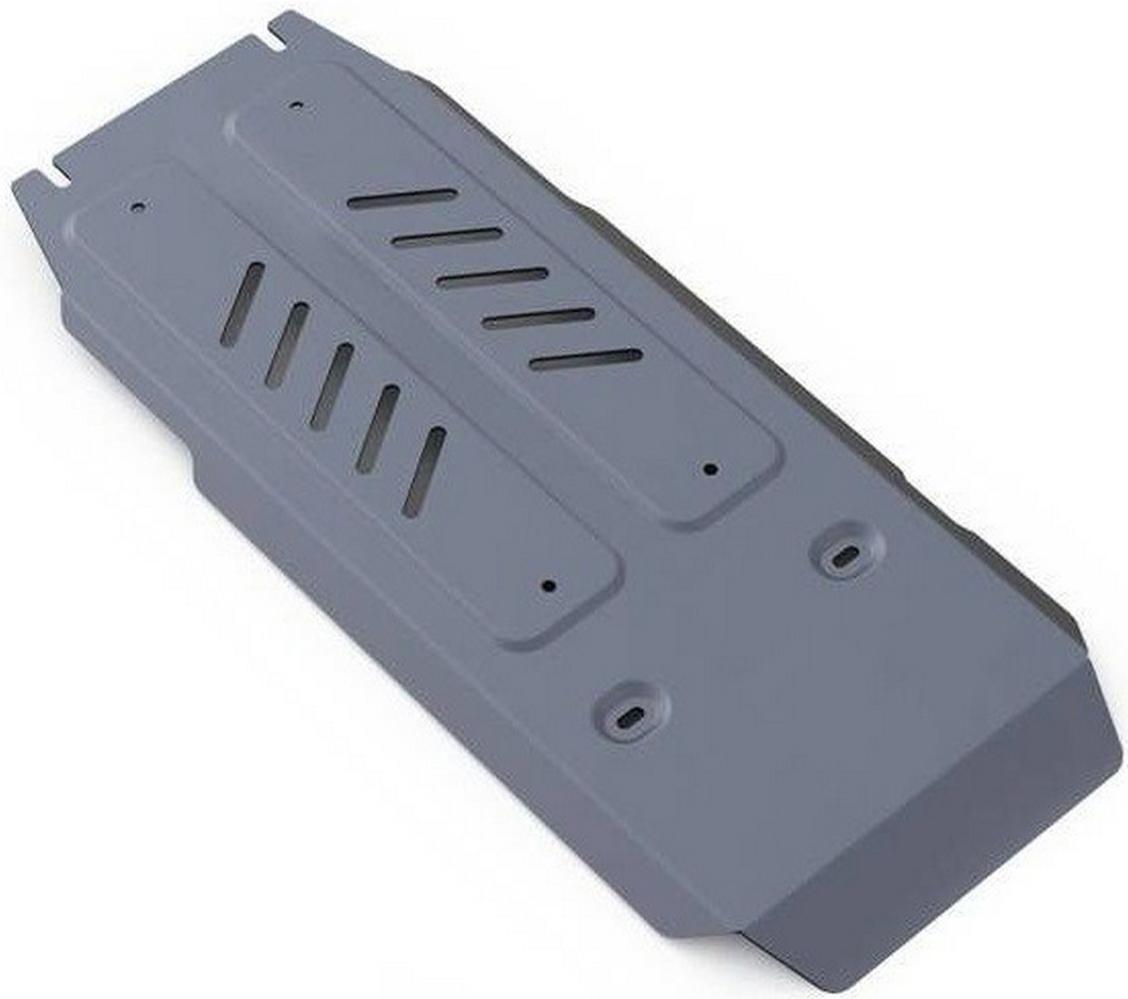 Защита КПП и РК Rival для Infiniti Q70 2014-, алюминий 4 мм333.2420.1Защита КПП и РК Rival для Infiniti Q70 V - 3.7 4WD 2014-н.в., алюминий 4 мм, крепеж в комплекте, 333.2420.1Алюминиевые защиты Rival надежно защищают днище вашего автомобиля от повреждений, например при наезде на бордюры, а также выполняют эстетическую функцию при установке на высокие автомобили.- Толщина алюминиевых защит в 2 раза толще стальных, а вес при этом меньше до 30%.- Отлично отводит тепло от двигателя своей поверхностью, что спасает двигатель от перегрева в летний период или при высоких нагрузках.- В отличие от стальных, алюминиевые защиты не поддаются коррозии, что гарантирует срок службы защит более 5 лет.- Покрываются порошковой краской, что надолго сохраняет первоначальный вид новой защиты и защищает от гальванической коррозии.- Глубокий штамп дополнительно усиливает конструкцию защиты.- Подштамповка в местах крепления защищает крепеж от срезания.- Технологические отверстия там, где они необходимы для смены масла и слива воды, оборудованные заглушками, надежно закрепленными на защите.- Помимо основной функции защиты от удара, конструкция так же существенно снижает попадание в моторный отсек влаги и грязи.В комплекте инструкция по установке.Уважаемые клиенты!Обращаем ваше внимание, на тот факт, что защита имеет форму, соответствующую модели данного автомобиля. Наличие глубокого штампа и лючков для смены фильтров/масла предусмотрено не на всех защитах. Фото служит для визуального восприятия товара.