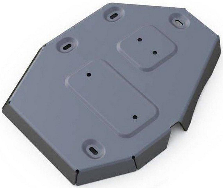 Защита редуктора Rival, для Jeep Cherokee, алюминий 4 мм333.2727.1Защита редуктора для Jeep Cherokee АКПП, 4WD, V - 2,4, 3,2 2014-, крепеж в комплекте, алюминий 4 мм, Rival Алюминиевые защиты картера Rival надежно защищают днище вашего автомобиля от повреждений, например при наезде на бордюры, а также выполняют эстетическую функцию при установке на высокие автомобили. - Толщина алюминиевых защит в 2 раза толще стальных, а вес при этом меньше до 30%. - Отлично отводит тепло от двигателя своей поверхностью, что спасает двигатель от перегрева в летний период или при высоких нагрузках. - В отличие от стальных, алюминиевые защиты не поддаются коррозии, что гарантирует срок службы защит более 5 лет. - Покрываются порошковой краской, что надолго сохраняет первоначальный вид новой защиты и защищает от гальванической коррозии. - Глубокий штамп дополнительно усиливает конструкцию защиты. - Подштамповка в местах крепления защищает крепеж от срезания. - Технологические отверстия там, где они необходимы для смены масла и слива воды, оборудованные заглушками, надежно закрепленными на защите. Уважаемые клиенты! Обращаем ваше внимание, на тот факт, что защита имеет форму, соответствующую модели данного автомобиля. Фото служит для визуального восприятия товара.