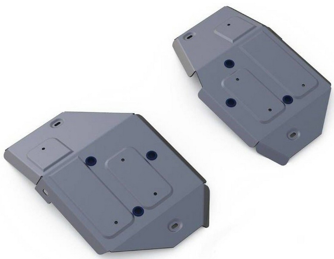 Защита топливного бака Rival для Land Rover Range Rover Evoque 2011-, алюминий 4 мм333.3125.1Защита топливного бака Rival для Land Rover Range Rover Evoque V - 2.0; 2.2d 2011-н.в., алюминий 4 мм, крепеж в комплекте, 333.3125.1Алюминиевые защиты Rival надежно защищают днище вашего автомобиля от повреждений, например при наезде на бордюры, а также выполняют эстетическую функцию при установке на высокие автомобили.- Толщина алюминиевых защит в 2 раза толще стальных, а вес при этом меньше до 30%.- Отлично отводит тепло от двигателя своей поверхностью, что спасает двигатель от перегрева в летний период или при высоких нагрузках.- В отличие от стальных, алюминиевые защиты не поддаются коррозии, что гарантирует срок службы защит более 5 лет.- Покрываются порошковой краской, что надолго сохраняет первоначальный вид новой защиты и защищает от гальванической коррозии.- Глубокий штамп дополнительно усиливает конструкцию защиты.- Подштамповка в местах крепления защищает крепеж от срезания.- Технологические отверстия там, где они необходимы для смены масла и слива воды, оборудованные заглушками, надежно закрепленными на защите.- Помимо основной функции защиты от удара, конструкция так же существенно снижает попадание в моторный отсек влаги и грязи.В комплекте инструкция по установке.Уважаемые клиенты!Обращаем ваше внимание, на тот факт, что защита имеет форму, соответствующую модели данного автомобиля. Наличие глубокого штампа и лючков для смены фильтров/масла предусмотрено не на всех защитах. Фото служит для визуального восприятия товара.