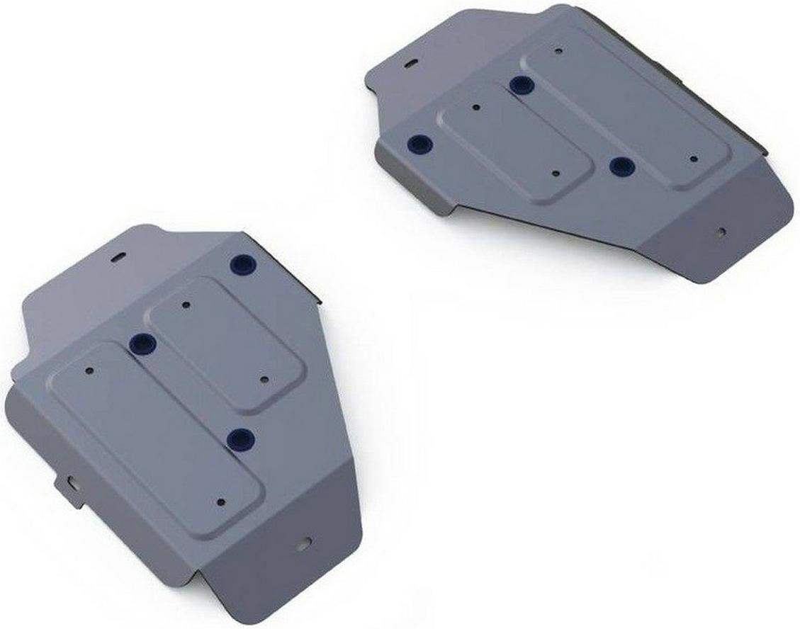 Защита топливного бака Rival для Land Rover Discovery Sport 2014-, алюминий 4 мм333.3126.1Защита топливного бака Rival для Land Rover Discovery Sport V - 2.0 (240 л.с.); 2.2d (188 л.с.); 2.2d (150 л.с.) 2014-н.в., алюминий 4 мм, крепеж в комплекте, 333.3126.1Алюминиевые защиты Rival надежно защищают днище вашего автомобиля от повреждений, например при наезде на бордюры, а также выполняют эстетическую функцию при установке на высокие автомобили.- Толщина алюминиевых защит в 2 раза толще стальных, а вес при этом меньше до 30%.- Отлично отводит тепло от двигателя своей поверхностью, что спасает двигатель от перегрева в летний период или при высоких нагрузках.- В отличие от стальных, алюминиевые защиты не поддаются коррозии, что гарантирует срок службы защит более 5 лет.- Покрываются порошковой краской, что надолго сохраняет первоначальный вид новой защиты и защищает от гальванической коррозии.- Глубокий штамп дополнительно усиливает конструкцию защиты.- Подштамповка в местах крепления защищает крепеж от срезания.- Технологические отверстия там, где они необходимы для смены масла и слива воды, оборудованные заглушками, надежно закрепленными на защите.- Помимо основной функции защиты от удара, конструкция так же существенно снижает попадание в моторный отсек влаги и грязи.В комплекте инструкция по установке.Уважаемые клиенты!Обращаем ваше внимание, на тот факт, что защита имеет форму, соответствующую модели данного автомобиля. Наличие глубокого штампа и лючков для смены фильтров/масла предусмотрено не на всех защитах. Фото служит для визуального восприятия товара.