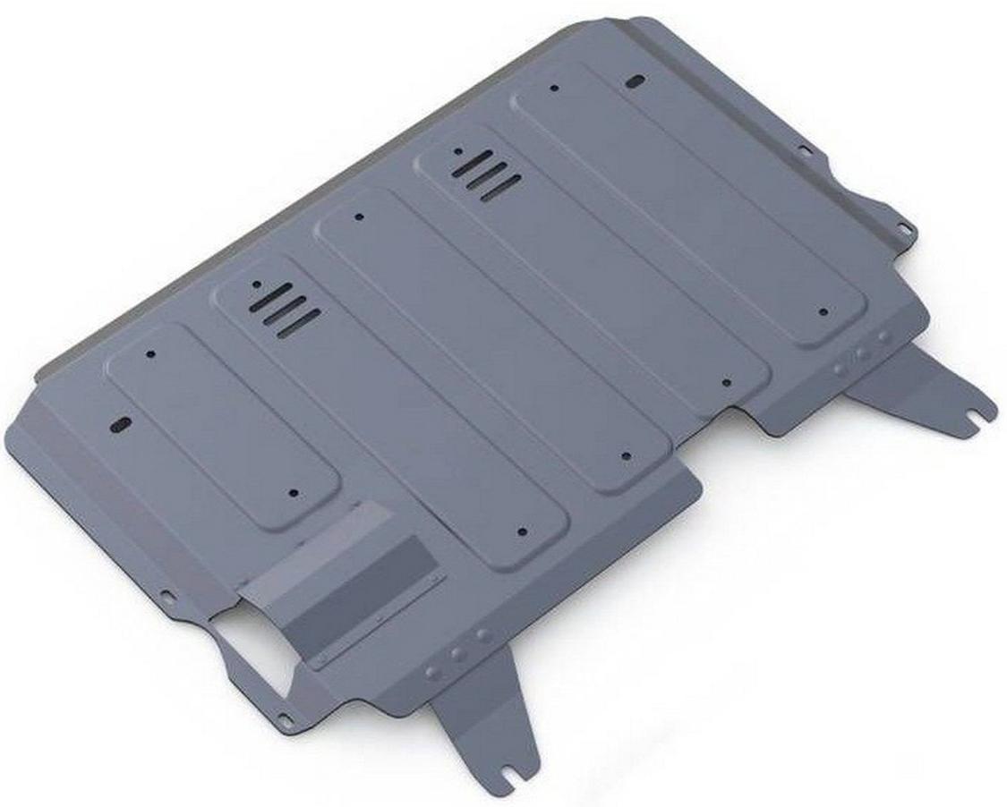 Защита картера и КПП Rival для Mazda 3 2009-2013 / Mazda Axela 2009-2013, алюминий 4 мм333.3804.3Защита картера и КПП Rival для Mazda 3 V - 1.6; 2.0 2009-2013/Mazda Axela V - 2.0 2009-2013, алюминий 4 мм, крепеж в комплекте, 333.3804.3Алюминиевые защиты Rival надежно защищают днище вашего автомобиля от повреждений, например при наезде на бордюры, а также выполняют эстетическую функцию при установке на высокие автомобили.- Толщина алюминиевых защит в 2 раза толще стальных, а вес при этом меньше до 30%.- Отлично отводит тепло от двигателя своей поверхностью, что спасает двигатель от перегрева в летний период или при высоких нагрузках.- В отличие от стальных, алюминиевые защиты не поддаются коррозии, что гарантирует срок службы защит более 5 лет.- Покрываются порошковой краской, что надолго сохраняет первоначальный вид новой защиты и защищает от гальванической коррозии.- Глубокий штамп дополнительно усиливает конструкцию защиты.- Подштамповка в местах крепления защищает крепеж от срезания.- Технологические отверстия там, где они необходимы для смены масла и слива воды, оборудованные заглушками, надежно закрепленными на защите.- Помимо основной функции защиты от удара, конструкция так же существенно снижает попадание в моторный отсек влаги и грязи.В комплекте инструкция по установке.Уважаемые клиенты!Обращаем ваше внимание, на тот факт, что защита имеет форму, соответствующую модели данного автомобиля. Наличие глубокого штампа и лючков для смены фильтров/масла предусмотрено не на всех защитах. Фото служит для визуального восприятия товара.