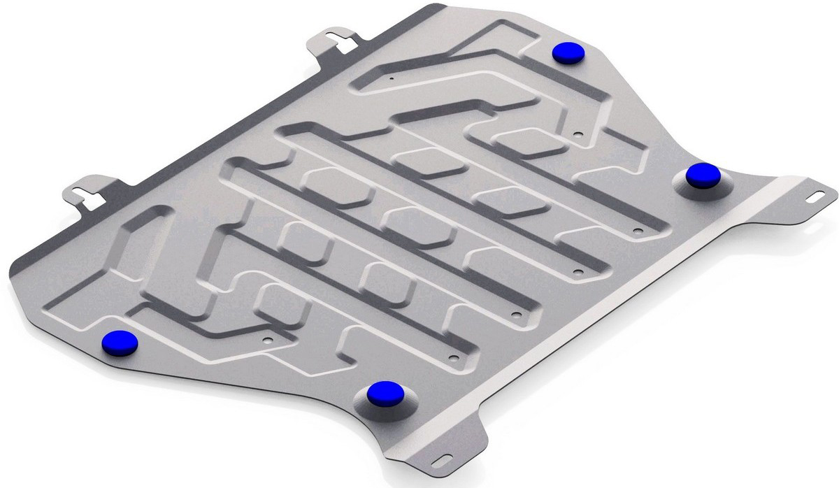 Защита картера и КПП Rival для Nissan Juke 2011-2017 2017-, алюминий 4 мм333.4141.1Защита картера и КПП Rival для Nissan Juke V - 1.6 2017-н.в./Nissan Juke V - 1.6 2011-2017, алюминий 4 мм, крепеж в комплекте, 333.4141.1Алюминиевые защиты Rival надежно защищают днище вашего автомобиля от повреждений, например при наезде на бордюры, а также выполняют эстетическую функцию при установке на высокие автомобили.- Толщина алюминиевых защит в 2 раза толще стальных, а вес при этом меньше до 30%.- Отлично отводит тепло от двигателя своей поверхностью, что спасает двигатель от перегрева в летний период или при высоких нагрузках.- В отличие от стальных, алюминиевые защиты не поддаются коррозии, что гарантирует срок службы защит более 5 лет.- Покрываются порошковой краской, что надолго сохраняет первоначальный вид новой защиты и защищает от гальванической коррозии.- Глубокий штамп дополнительно усиливает конструкцию защиты.- Подштамповка в местах крепления защищает крепеж от срезания.- Технологические отверстия там, где они необходимы для смены масла и слива воды, оборудованные заглушками, надежно закрепленными на защите.- Помимо основной функции защиты от удара, конструкция так же существенно снижает попадание в моторный отсек влаги и грязи.В комплекте инструкция по установке.Уважаемые клиенты!Обращаем ваше внимание, на тот факт, что защита имеет форму, соответствующую модели данного автомобиля. Наличие глубокого штампа и лючков для смены фильтров/масла предусмотрено не на всех защитах. Фото служит для визуального восприятия товара.