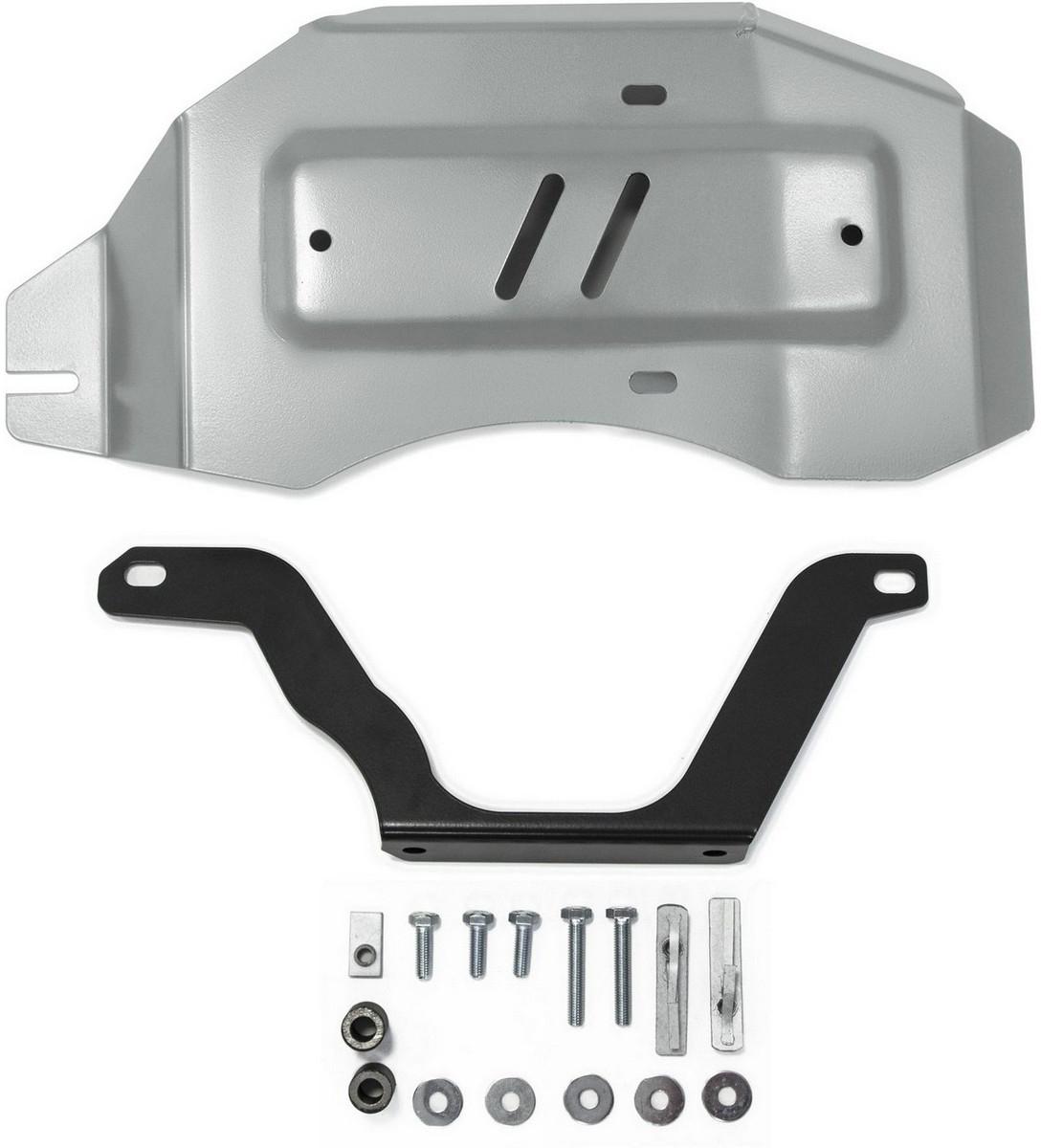 Защита редуктора Rival для Nissan Qashqai 2014- / Nissan X-Trail 2015- / Renault Koleos 2017-, алюминий 4 мм333.4150.1Защита редуктора Rival для Nissan Qashqai V - 2.0 4WD 2014-н.в./Nissan X-Trail V - 2.0; 2.5 4WD 2015-н.в./Renault Koleos V - 2.0; 2.5 4WD 2017-н.в., алюминий 4 мм, крепеж в комплекте, 333.4150.1Алюминиевые защиты Rival надежно защищают днище вашего автомобиля от повреждений, например при наезде на бордюры, а также выполняют эстетическую функцию при установке на высокие автомобили.- Толщина алюминиевых защит в 2 раза толще стальных, а вес при этом меньше до 30%.- Отлично отводит тепло от двигателя своей поверхностью, что спасает двигатель от перегрева в летний период или при высоких нагрузках.- В отличие от стальных, алюминиевые защиты не поддаются коррозии, что гарантирует срок службы защит более 5 лет.- Покрываются порошковой краской, что надолго сохраняет первоначальный вид новой защиты и защищает от гальванической коррозии.- Глубокий штамп дополнительно усиливает конструкцию защиты.- Подштамповка в местах крепления защищает крепеж от срезания.- Технологические отверстия там, где они необходимы для смены масла и слива воды, оборудованные заглушками, надежно закрепленными на защите.- Помимо основной функции защиты от удара, конструкция так же существенно снижает попадание в моторный отсек влаги и грязи.В комплекте инструкция по установке.Уважаемые клиенты!Обращаем ваше внимание, на тот факт, что защита имеет форму, соответствующую модели данного автомобиля. Наличие глубокого штампа и лючков для смены фильтров/масла предусмотрено не на всех защитах. Фото служит для визуального восприятия товара.