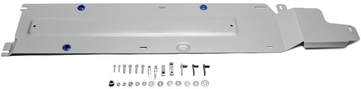 Защита топливных трубок Rival для Nissan X-Trail 2015-, алюминий 4 мм333.4161.1Защита топливных трубок Rival для Nissan X-Trail V - 2.0; 2.5 2015-н.в., алюминий 4 мм, крепеж в комплекте, 333.4161.1Алюминиевые защиты Rival надежно защищают днище вашего автомобиля от повреждений, например при наезде на бордюры, а также выполняют эстетическую функцию при установке на высокие автомобили.- Толщина алюминиевых защит в 2 раза толще стальных, а вес при этом меньше до 30%.- Отлично отводит тепло от двигателя своей поверхностью, что спасает двигатель от перегрева в летний период или при высоких нагрузках.- В отличие от стальных, алюминиевые защиты не поддаются коррозии, что гарантирует срок службы защит более 5 лет.- Покрываются порошковой краской, что надолго сохраняет первоначальный вид новой защиты и защищает от гальванической коррозии.- Глубокий штамп дополнительно усиливает конструкцию защиты.- Подштамповка в местах крепления защищает крепеж от срезания.- Технологические отверстия там, где они необходимы для смены масла и слива воды, оборудованные заглушками, надежно закрепленными на защите.- Помимо основной функции защиты от удара, конструкция так же существенно снижает попадание в моторный отсек влаги и грязи.В комплекте инструкция по установке.Уважаемые клиенты!Обращаем ваше внимание, на тот факт, что защита имеет форму, соответствующую модели данного автомобиля. Наличие глубокого штампа и лючков для смены фильтров/масла предусмотрено не на всех защитах. Фото служит для визуального восприятия товара.